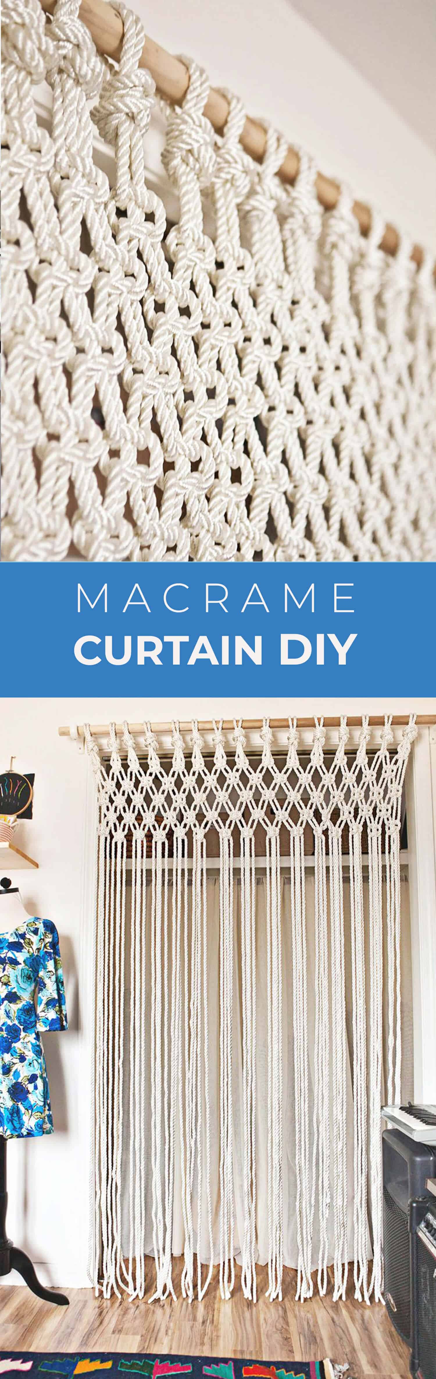 Now That My Curtain Is Done I Just Need To Pop In A Few Baskets Organize The Inside Ohhh This One Has Pom Poms Hy Macrame Days Xo Emma
