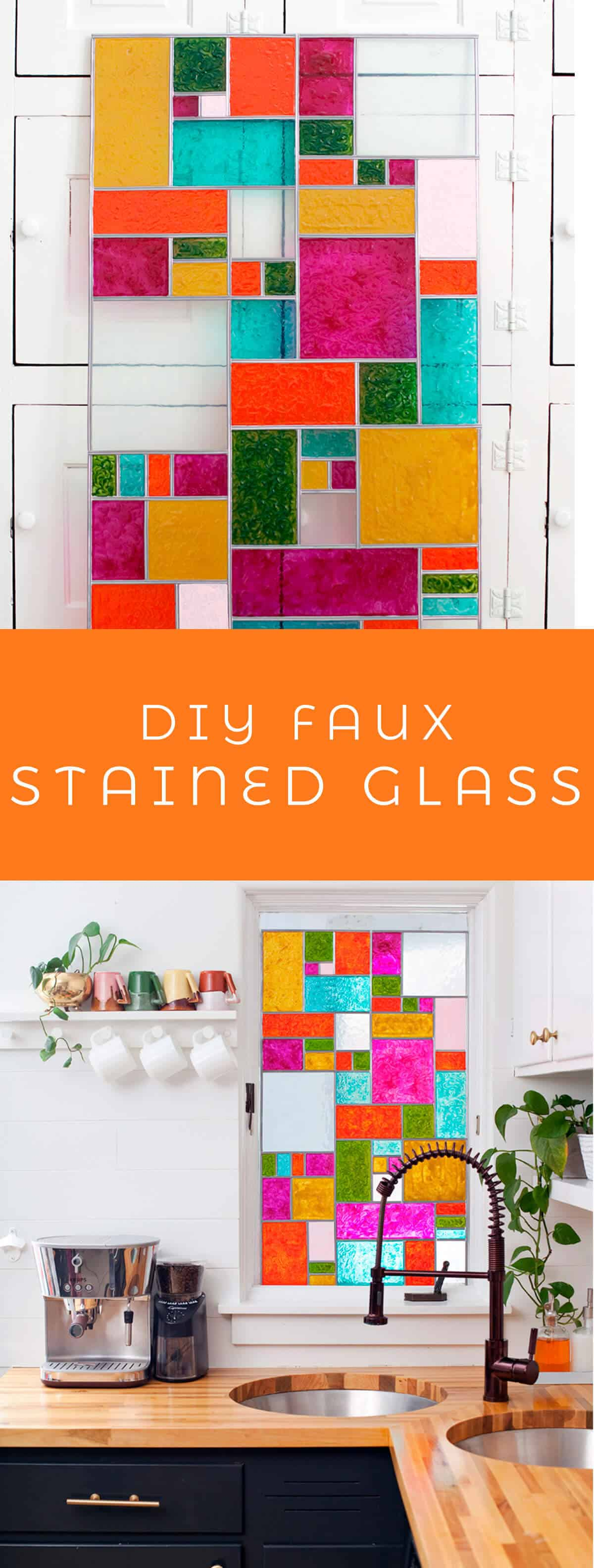 Diy Stained Glass Window.Diy Faux Stained Glass A Beautiful Mess