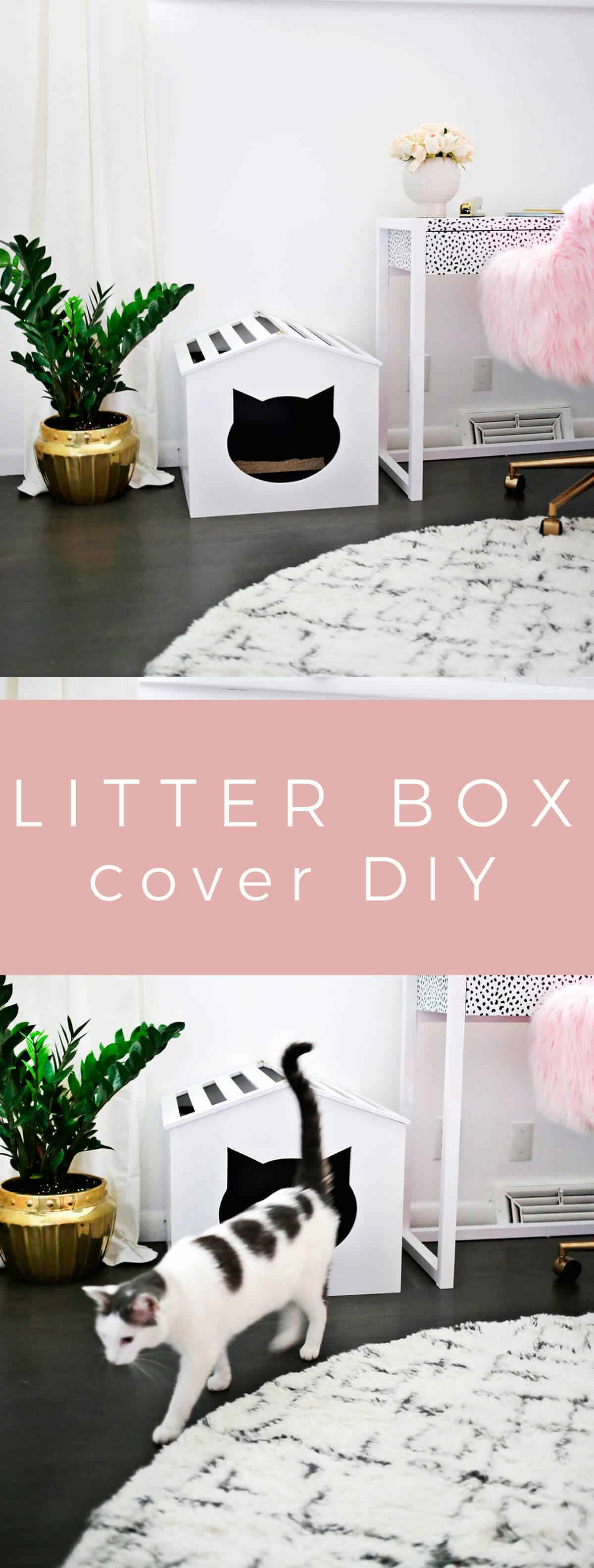 Litter Box Cover DIY! - A Beautiful Mess on home made books, home made hoods, home made brushes, home made cleaning, home made trailers, home made nuts, home made sails, home made home, home made umbrellas, home made fans, home made locks, home made pillows, home made belts, home made security, home made screws, home made shirts, home made sports, home made windows, home made country, home made tents,