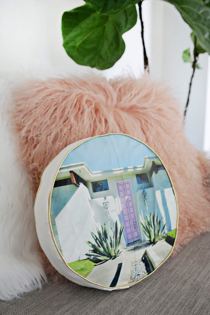 Palm Springs Photo Pillow DIY - A Beautiful Mess