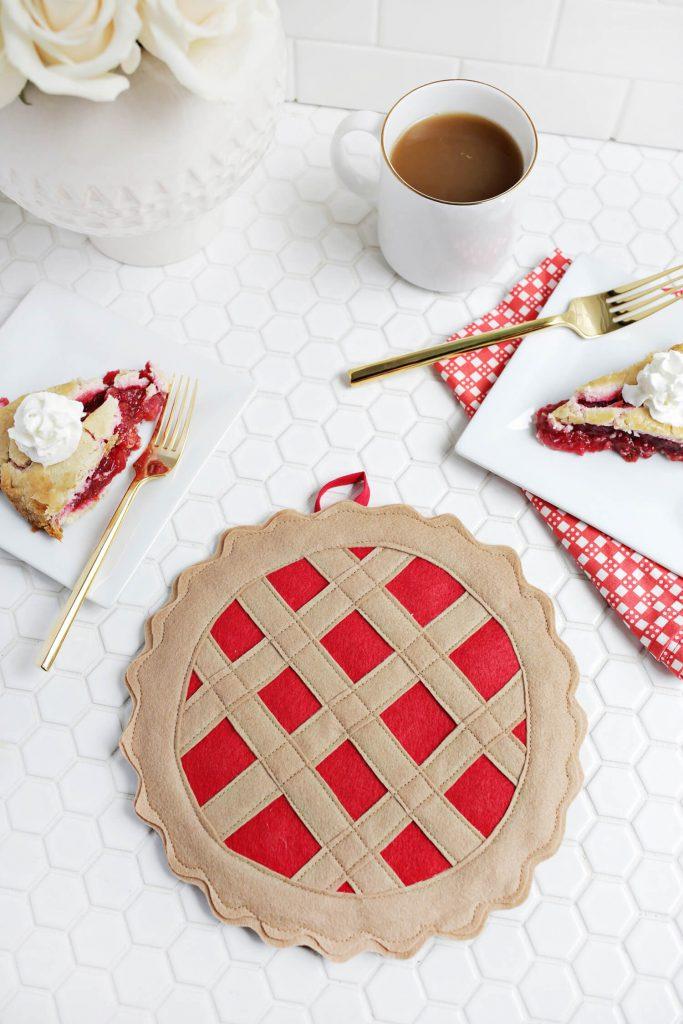 Cherry Pie Potholder DIY - A Beautiful Mess