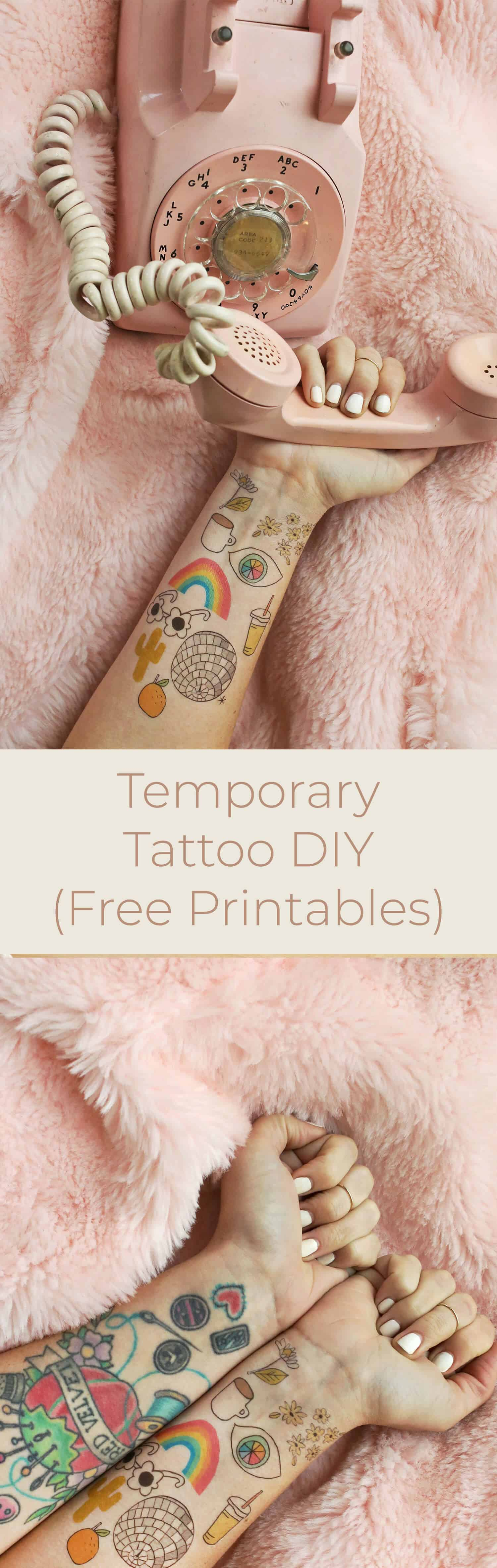 How to Make Temporary Tattoos - A Beautiful Mess
