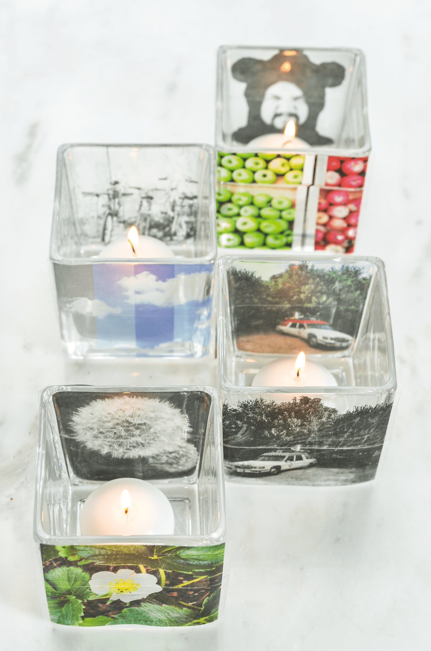 How to Make Instagram Votive Candles (click through for tutorial)