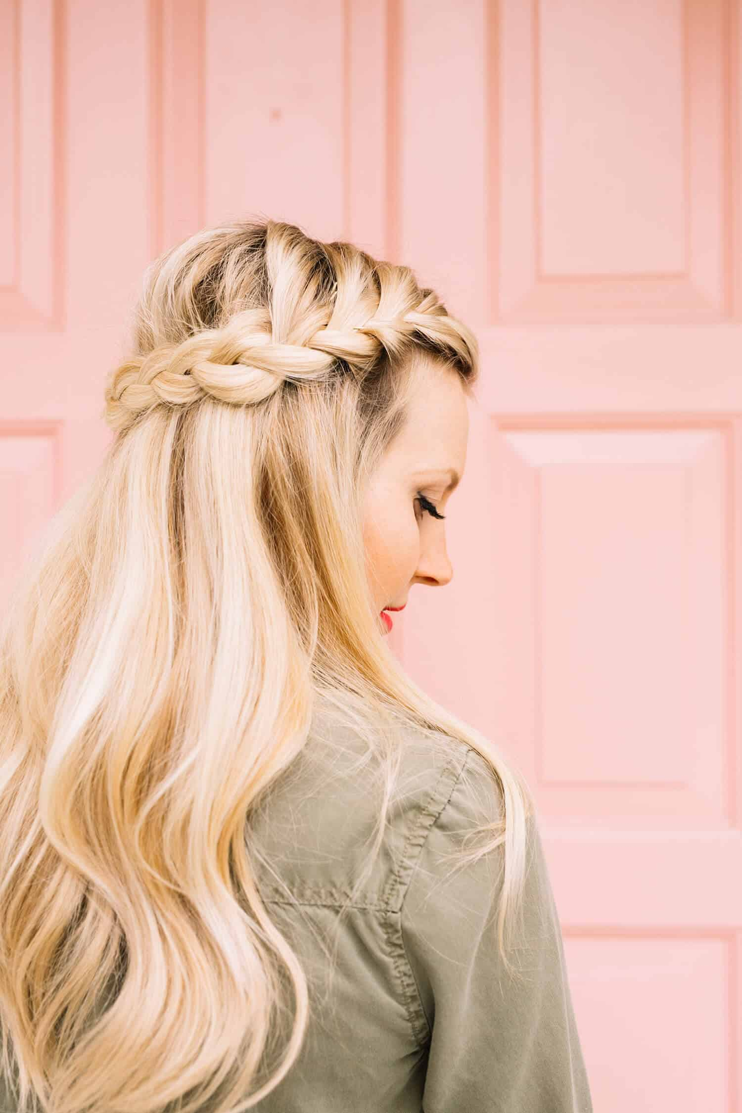 Amazing French Braid Half Crown A Beautiful Mess Natural Hairstyles Runnerswayorg