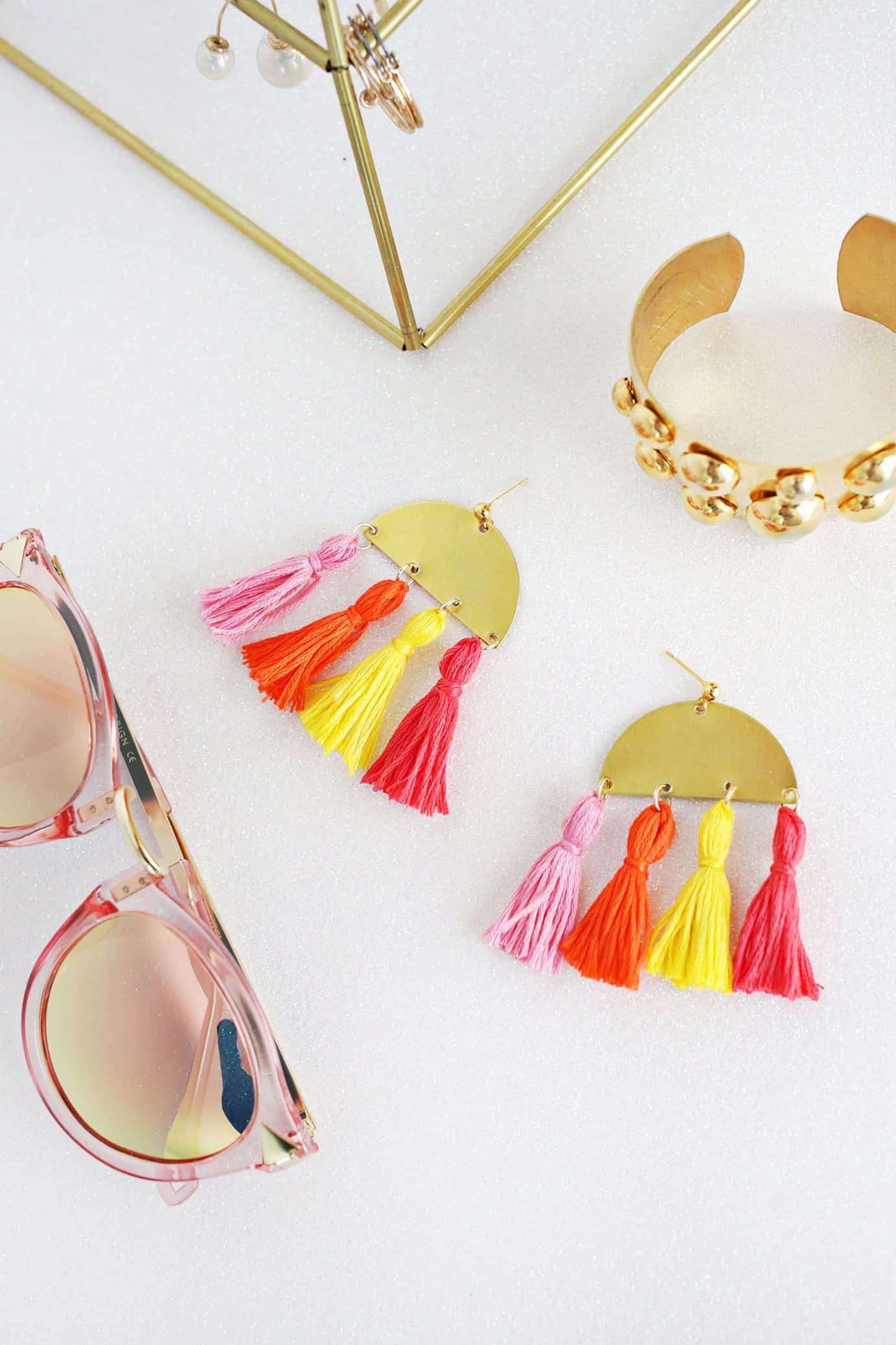 Half Moon Tassel Earring Diy A Beautiful Mess