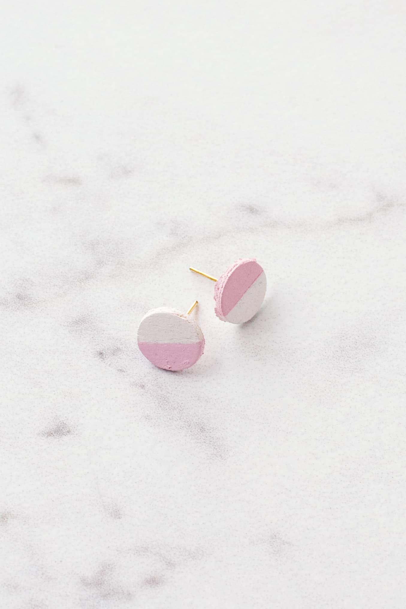 DIY wooden circle earrings