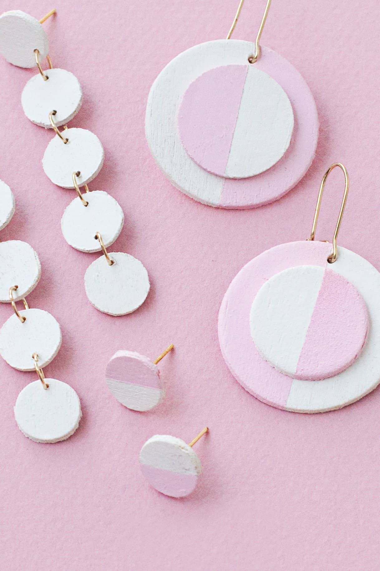 Diy Wooden Circle Earrings 2 Ways A Beautiful Mess