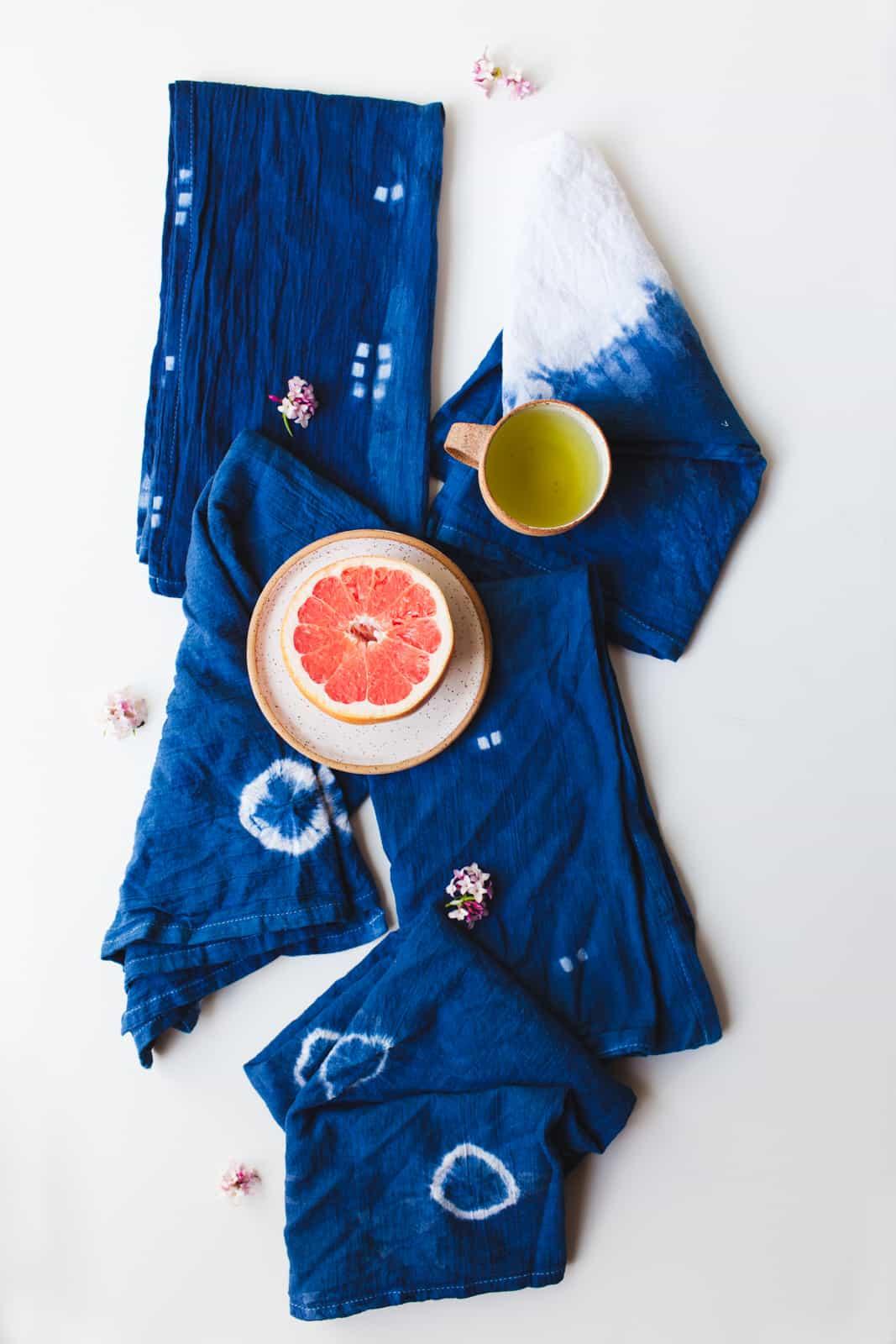 Make Your Own Shibori Kitchen Towels A Beautiful Mess