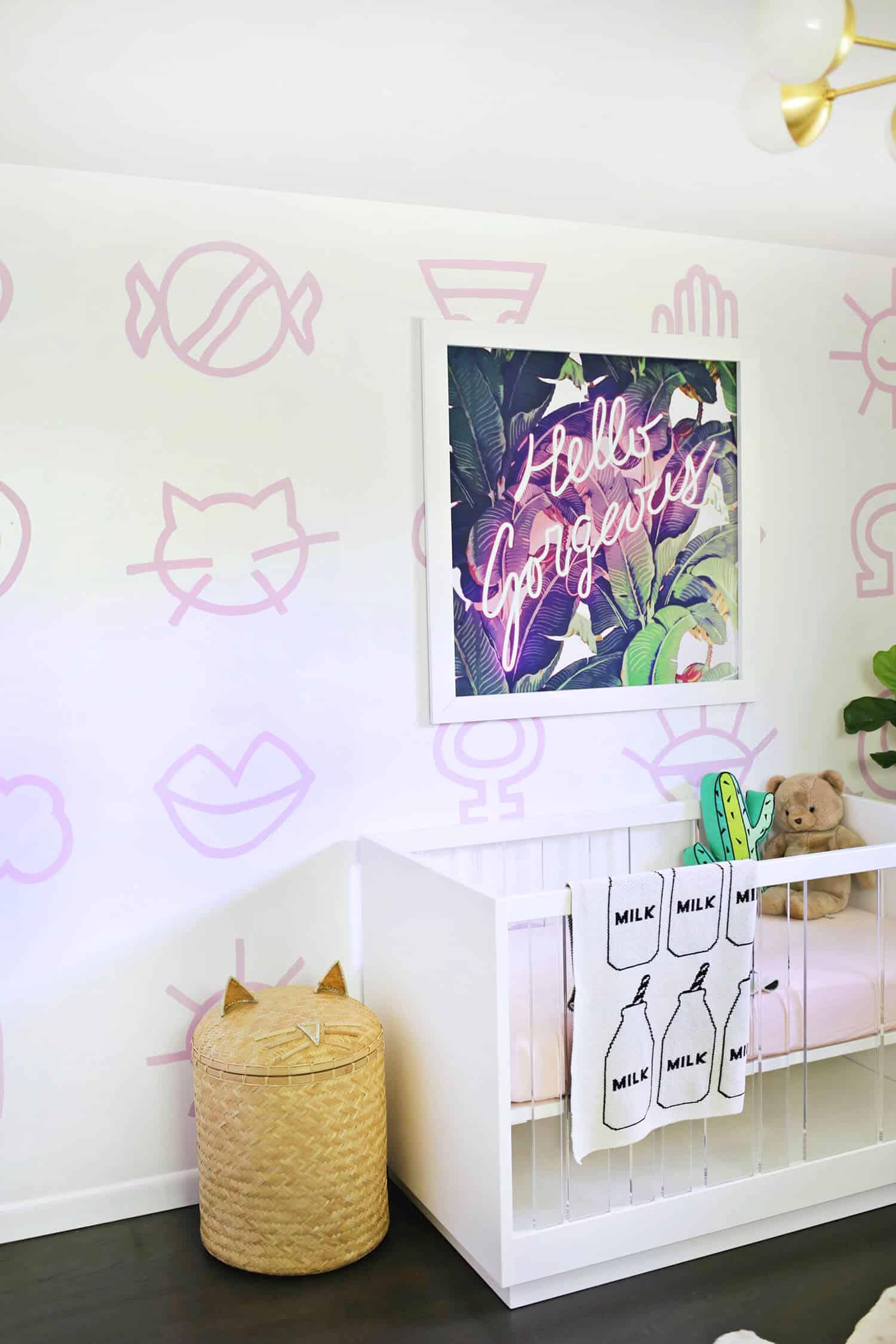 Painted Nursery Wallpaper Diy A Beautiful Mess