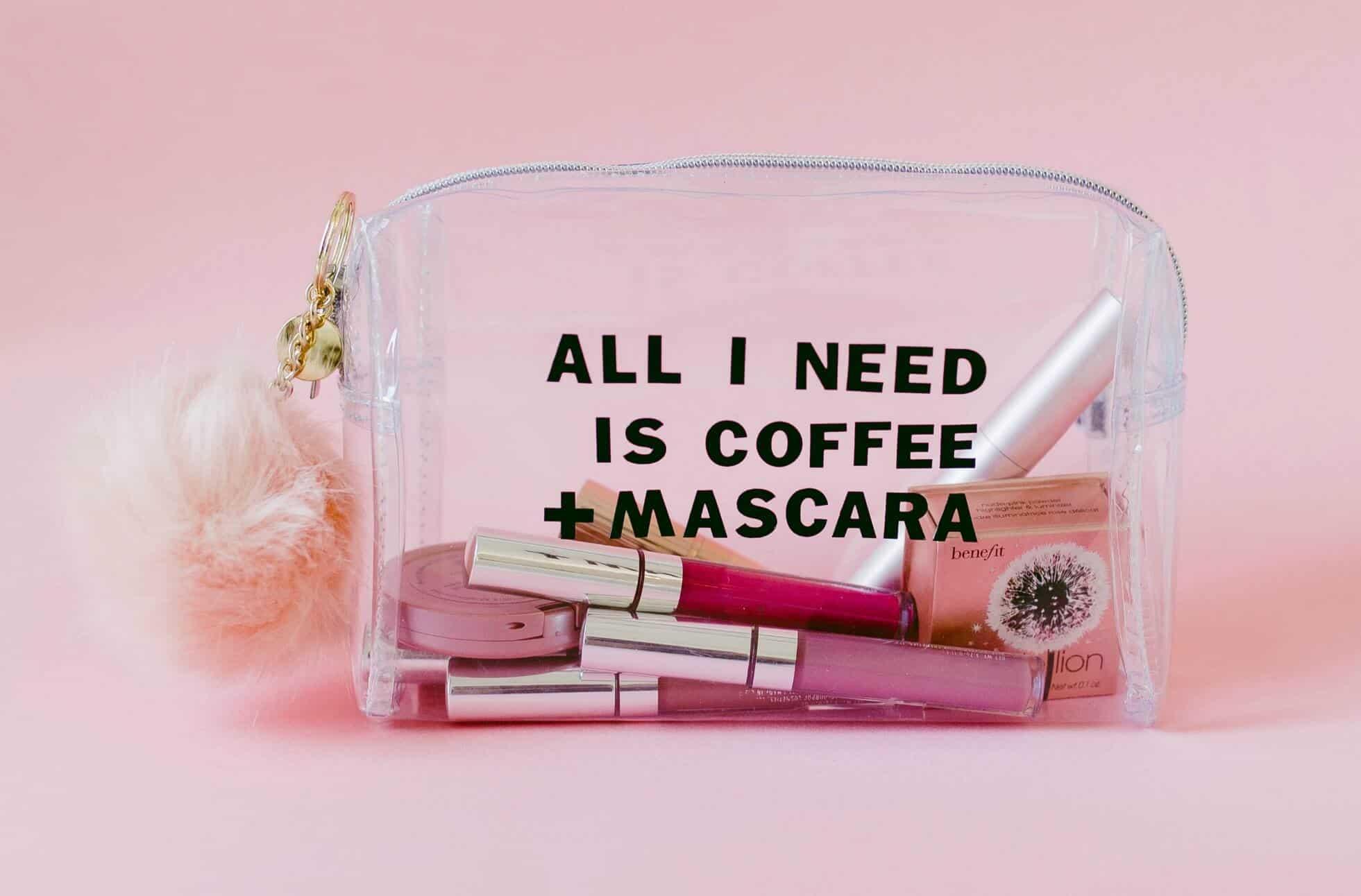 DIY Clear Makeup Bag- click through for the full tutorial!