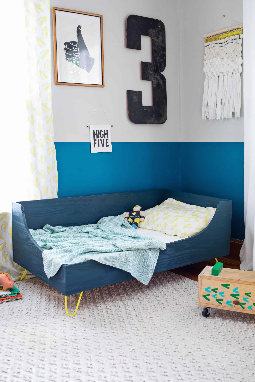 Modern Toddler Bed DIY - A Beautiful Mess