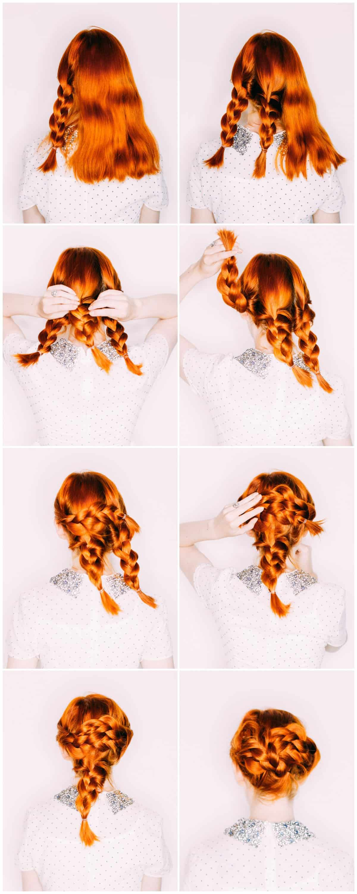 Easy Wedding Hair A Triple Braided Updo A Beautiful Mess