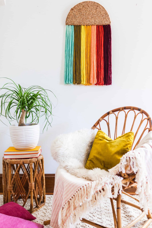 Easy Yarn Wall Art DIY - A Beautiful Mess