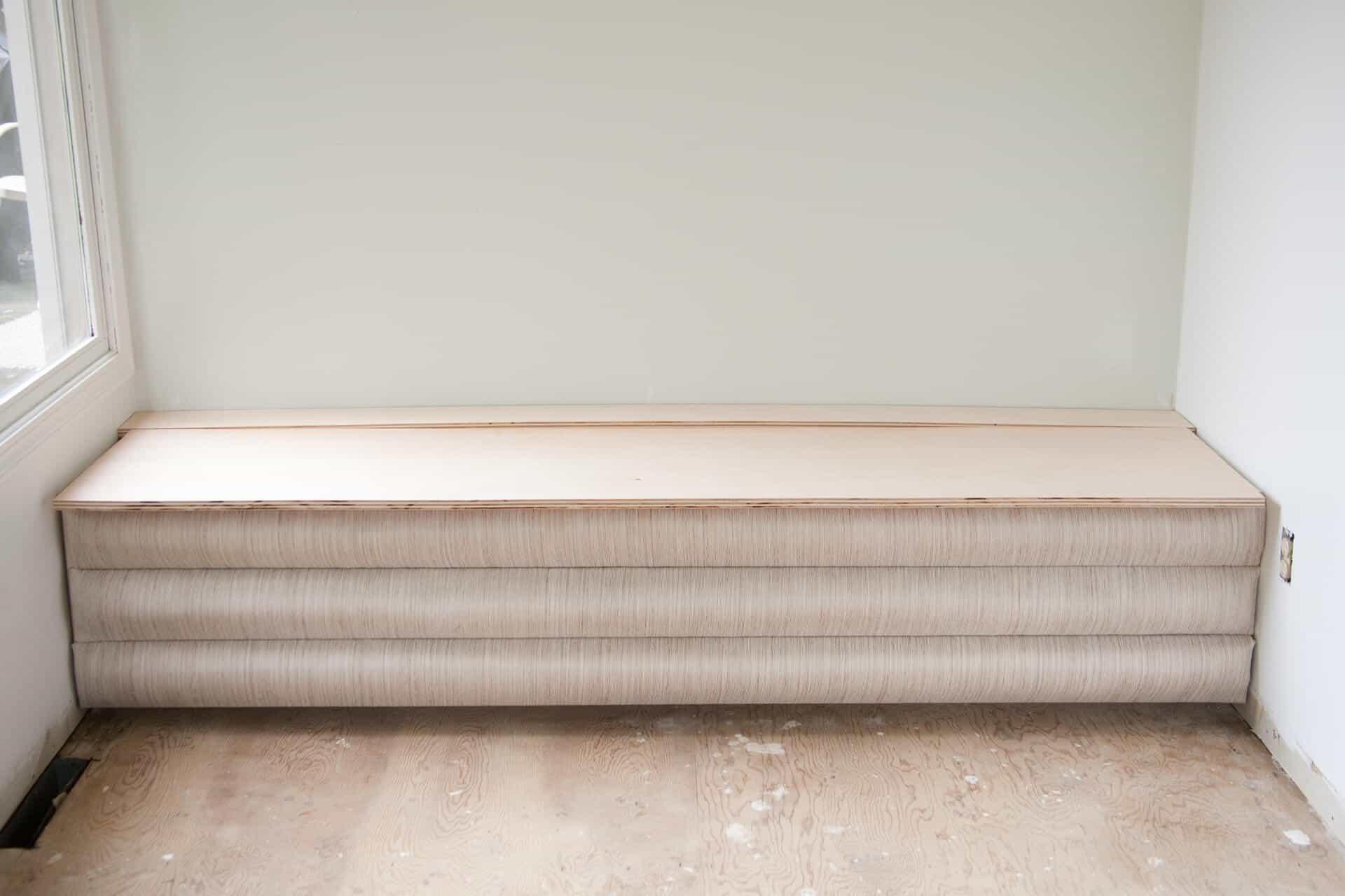 DIY channel tufted storage bench