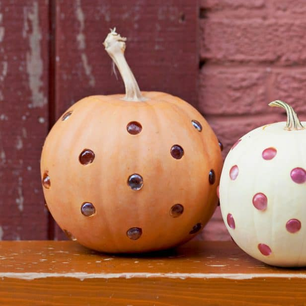 Glass Bead Polka Dot Pumpkins