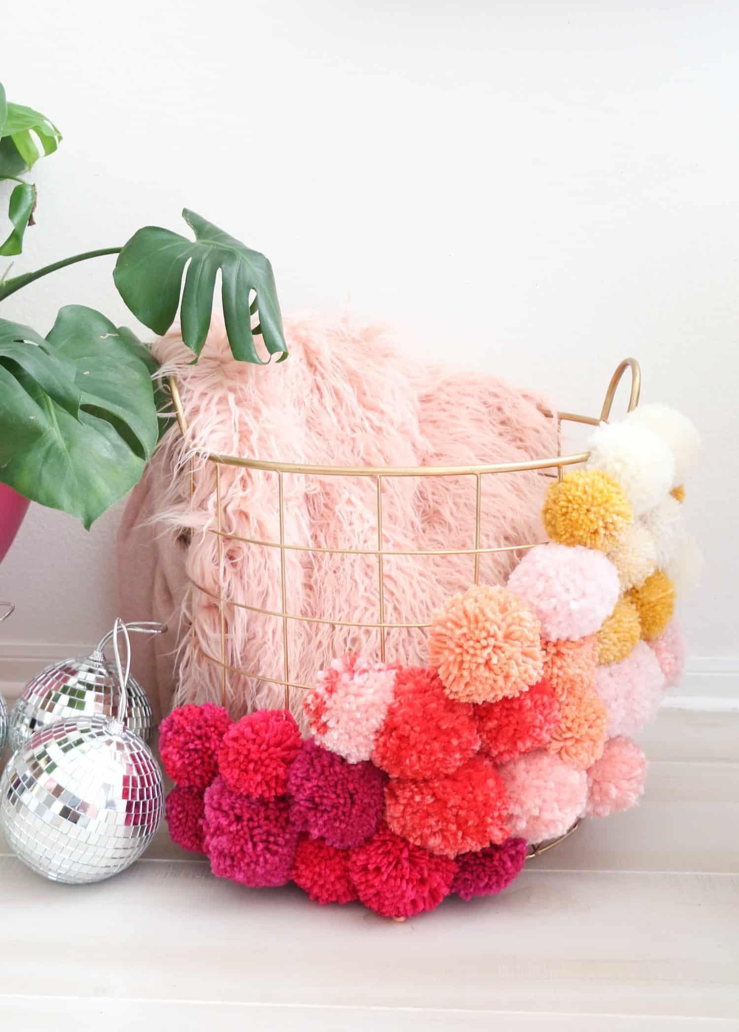 Make your own pom pom basket