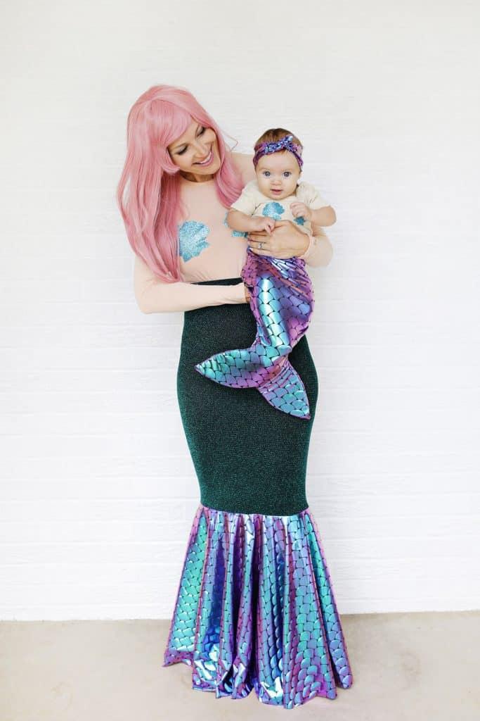 Mother + Daughter Mermaid Costume DIY - A Beautiful Mess