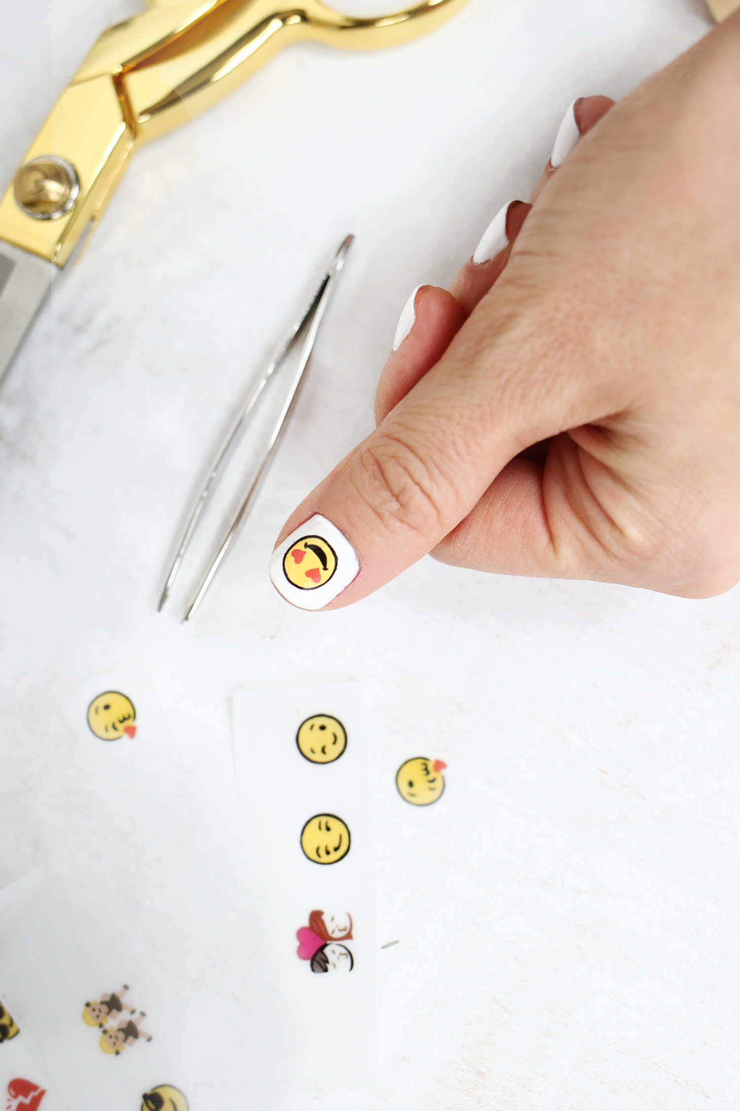 photograph regarding Printable Nail Decals titled Emoji Nail Decal Do it yourself - A Desirable Mess