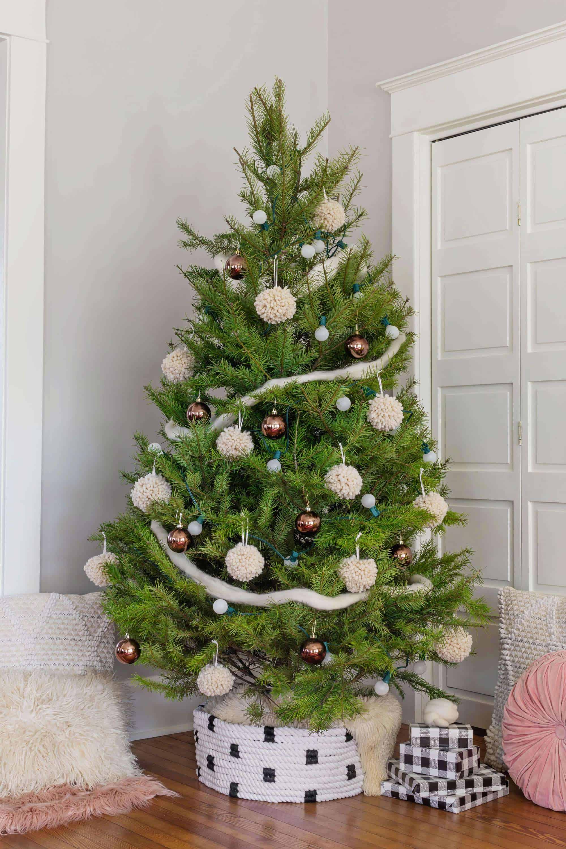 Rope Christmas Tree Collar Diy A Beautiful Mess