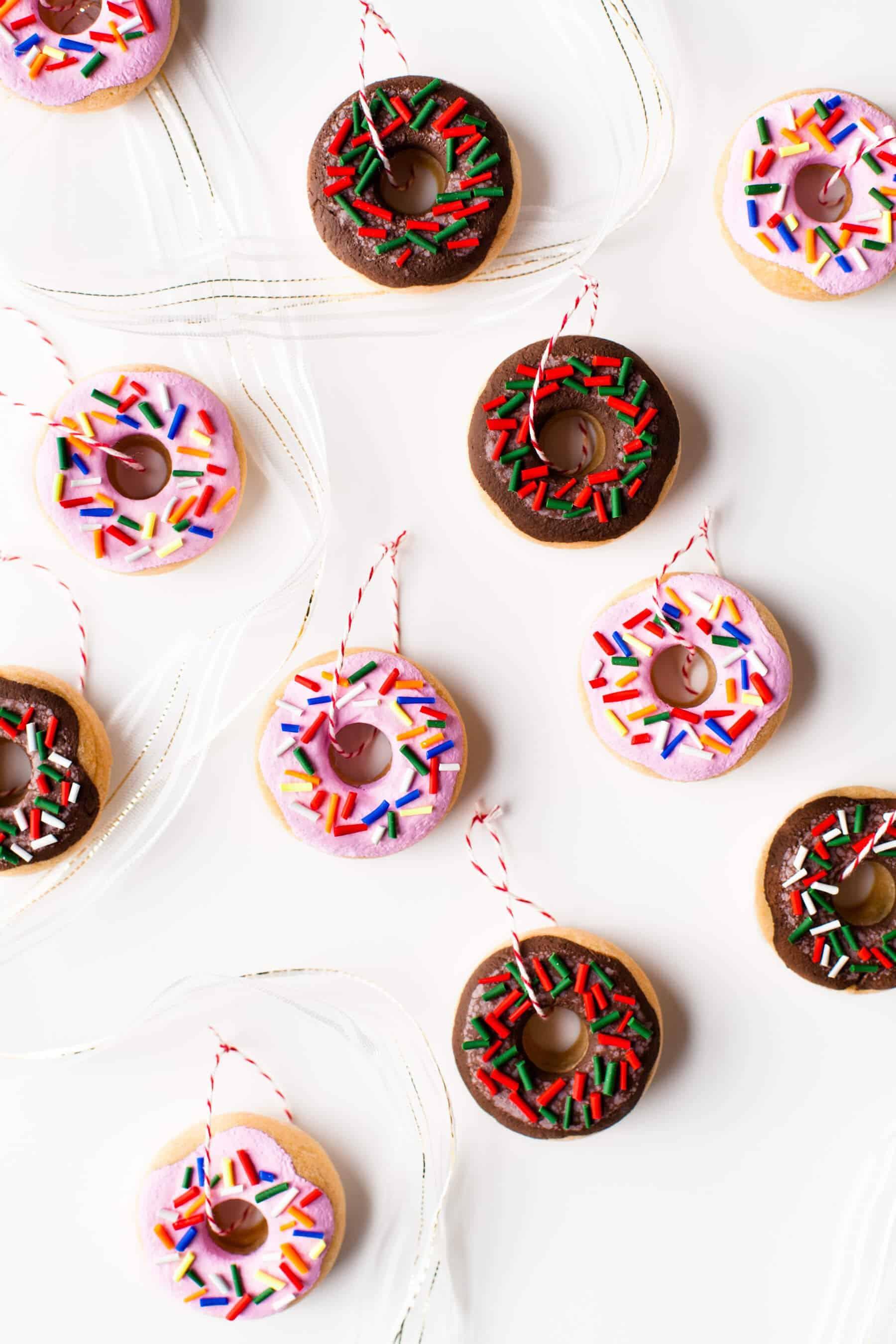 DIY Salt Dough Donut Ornaments - A