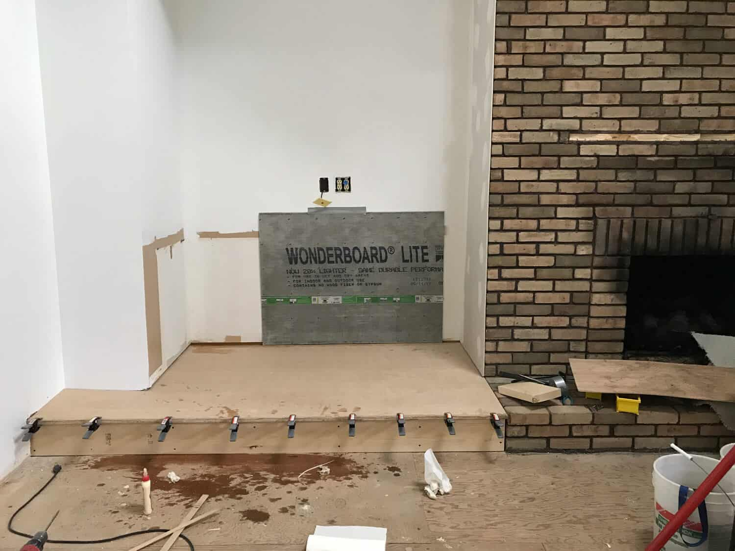 building a long fireplace hearth