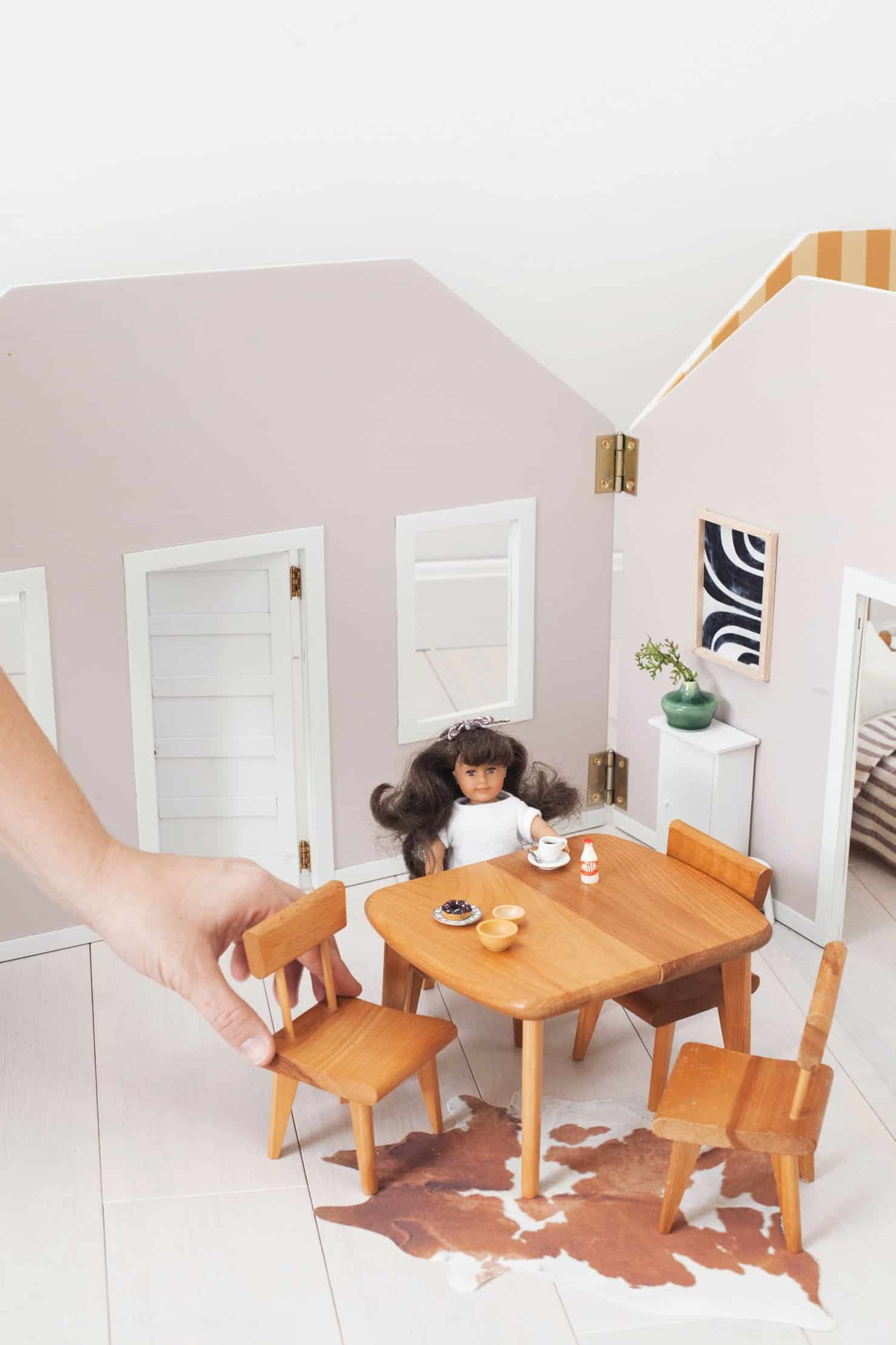 Make A Fold Away Dollhouse A Beautiful Mess