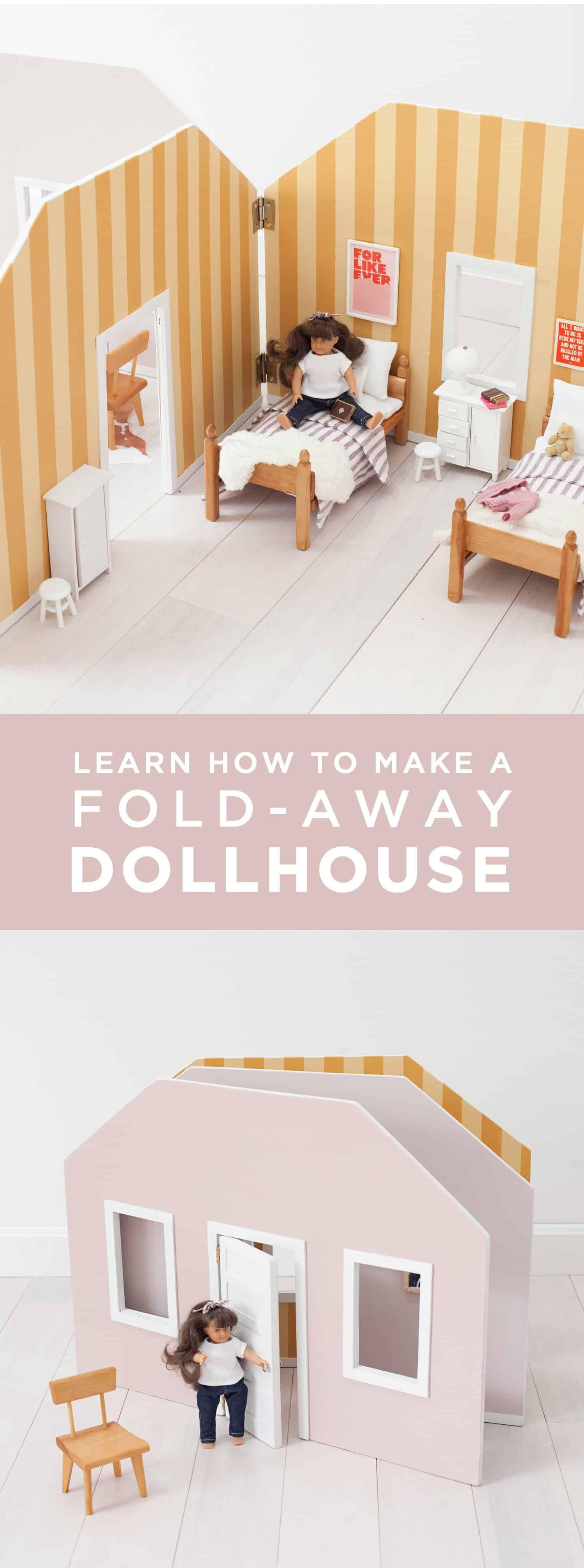 Make A Fold Away Dollhouse A Beautiful Mess