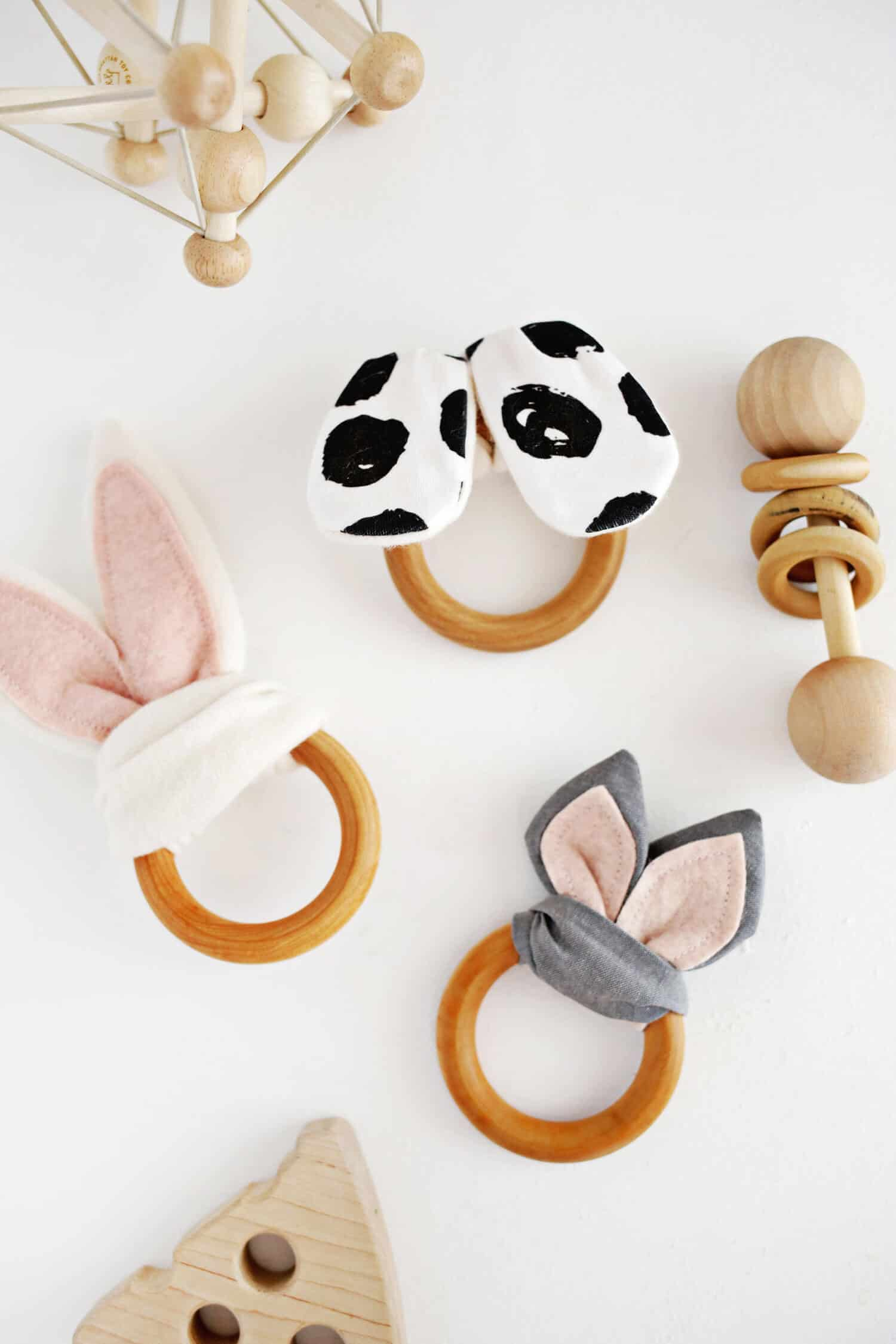 Wooden Ring Crinkle Teether DIY - A Beautiful Mess