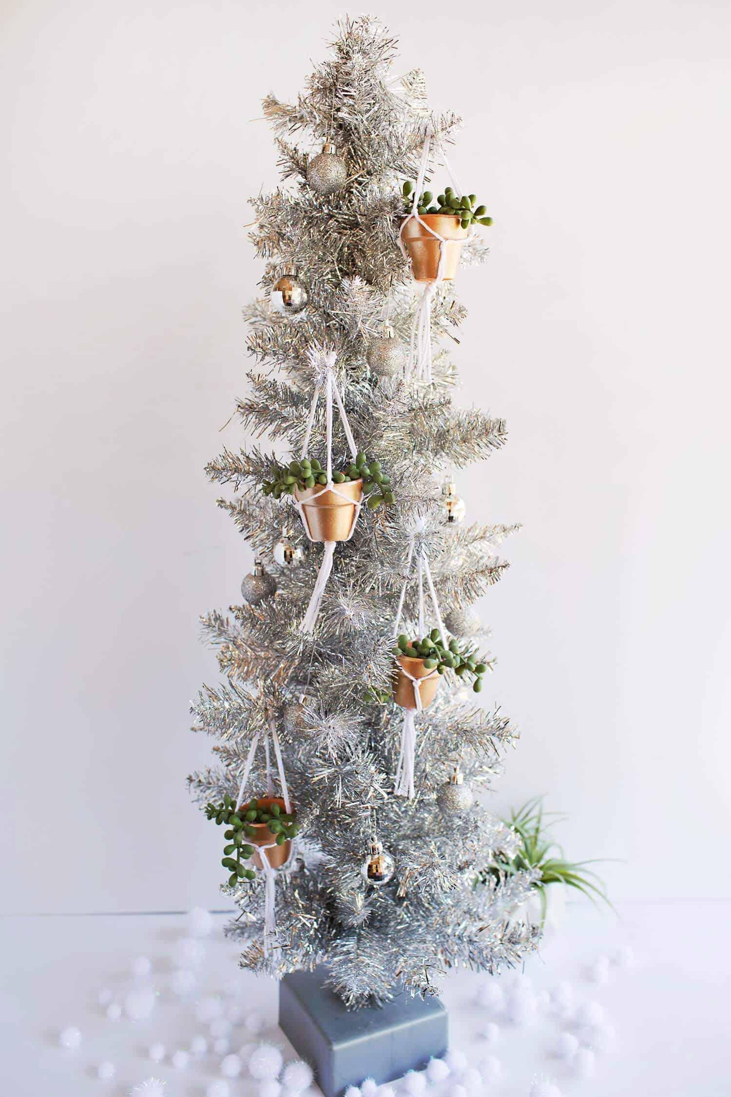 Diy Hanging Planter Ornament A Beautiful Mess