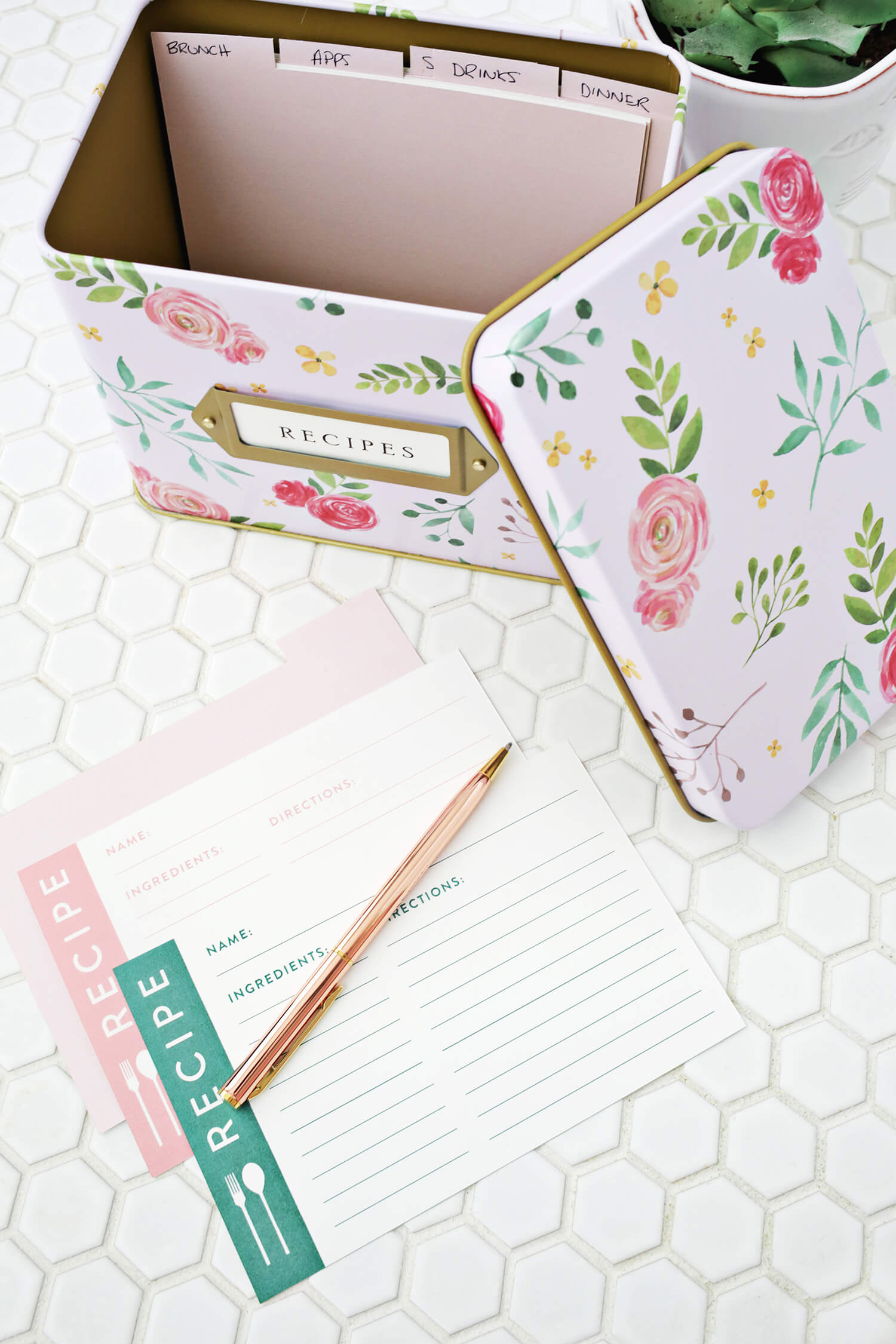 recipe cards own printable dividers cute
