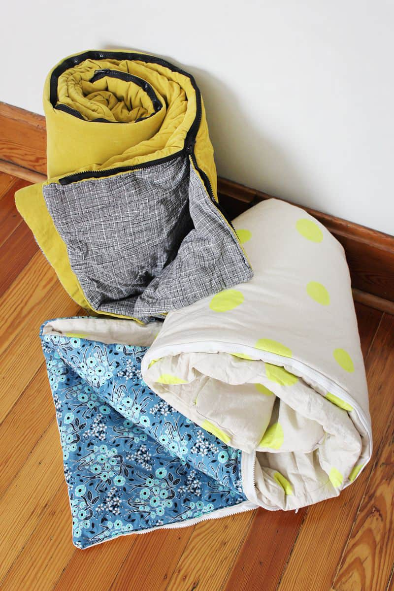 How To Sew Your Own Sleeping Bag A Beautiful Mess