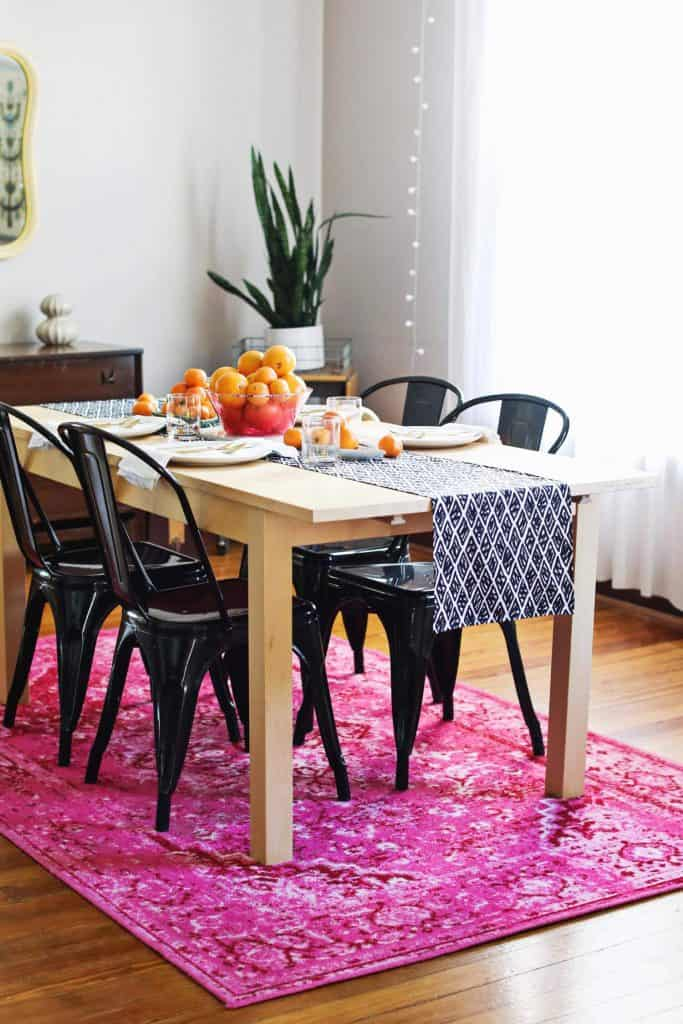 Excellent Diy Modern Table Runner A Beautiful Mess Home Interior And Landscaping Ponolsignezvosmurscom