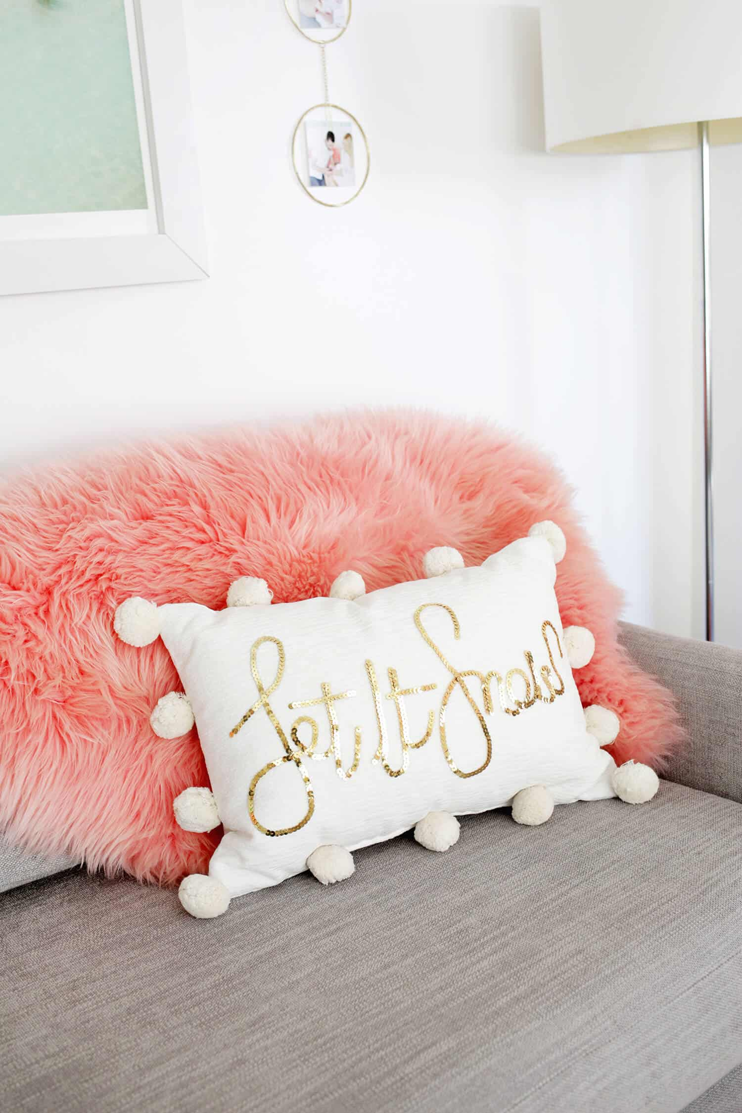Sequin Phrase Pillow Diy A Beautiful Mess