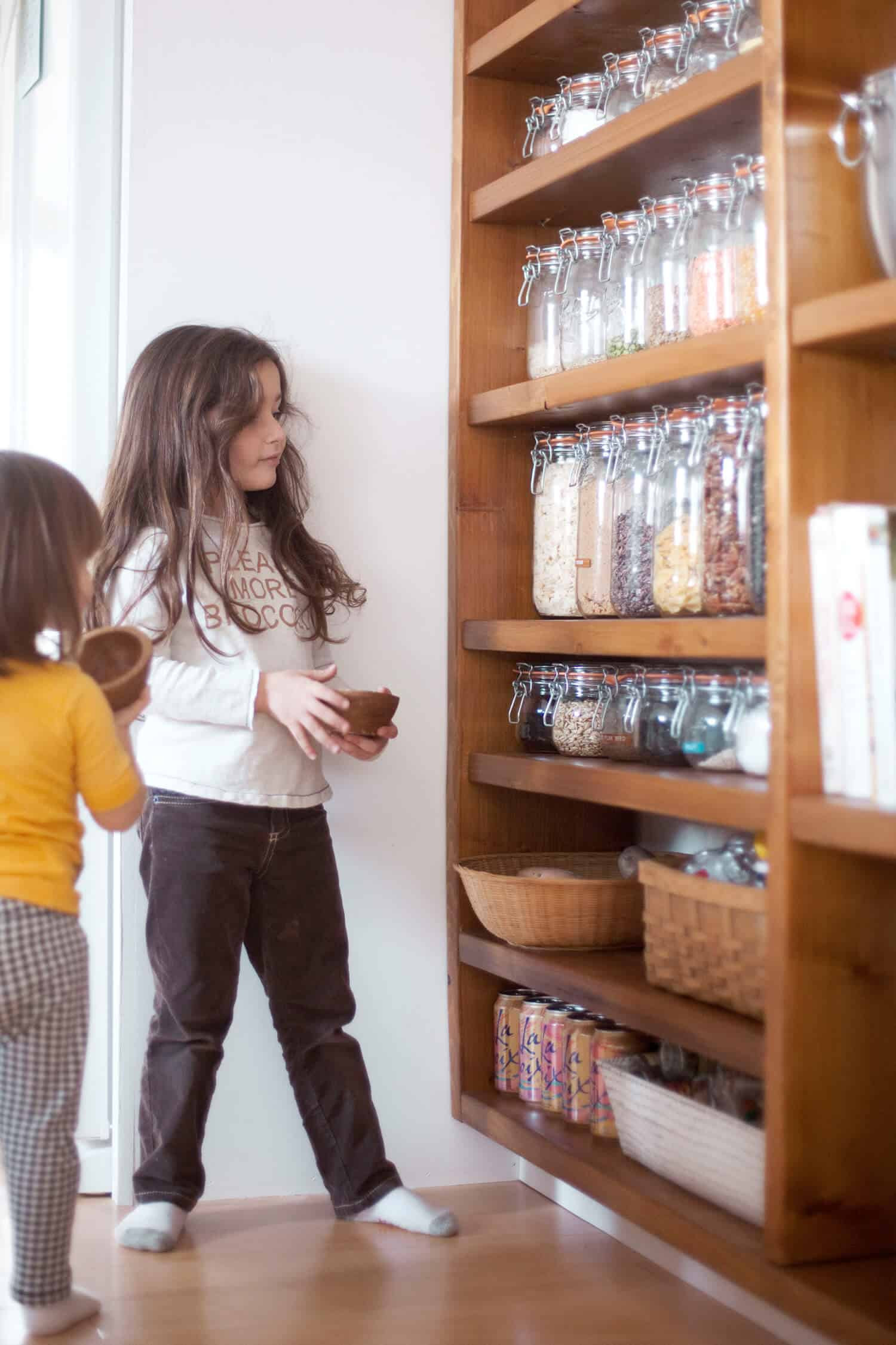 organized pantry jars