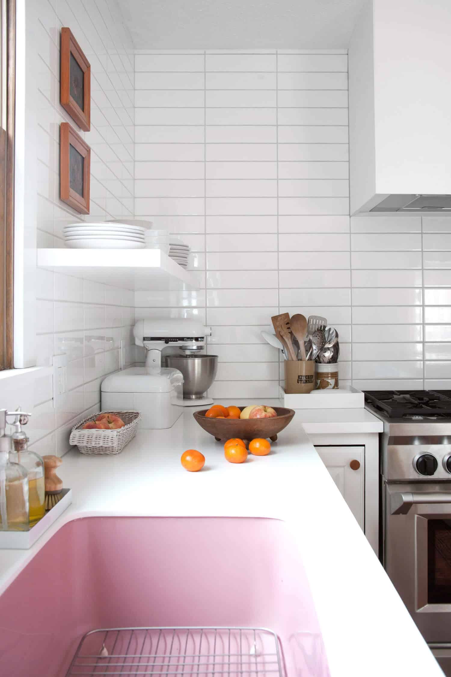 pink kitchen sink by Thermocast