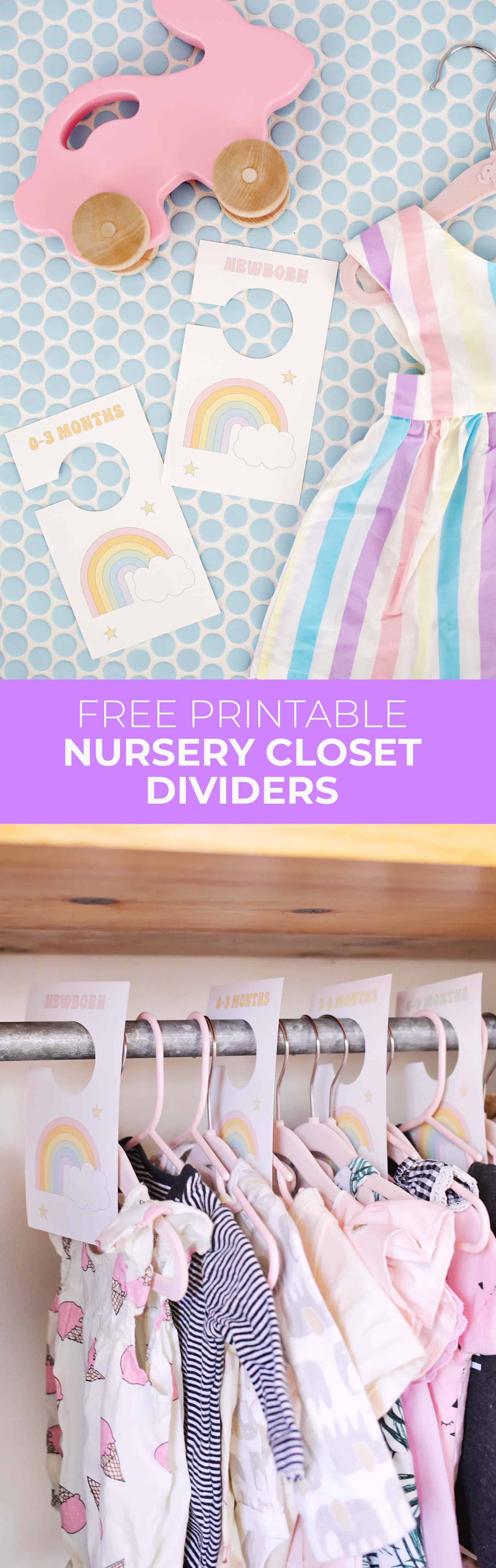 photo relating to Free Printable Closet Dividers named Nursery Closet Dividers (No cost Printable!) - A Eye-catching Mess