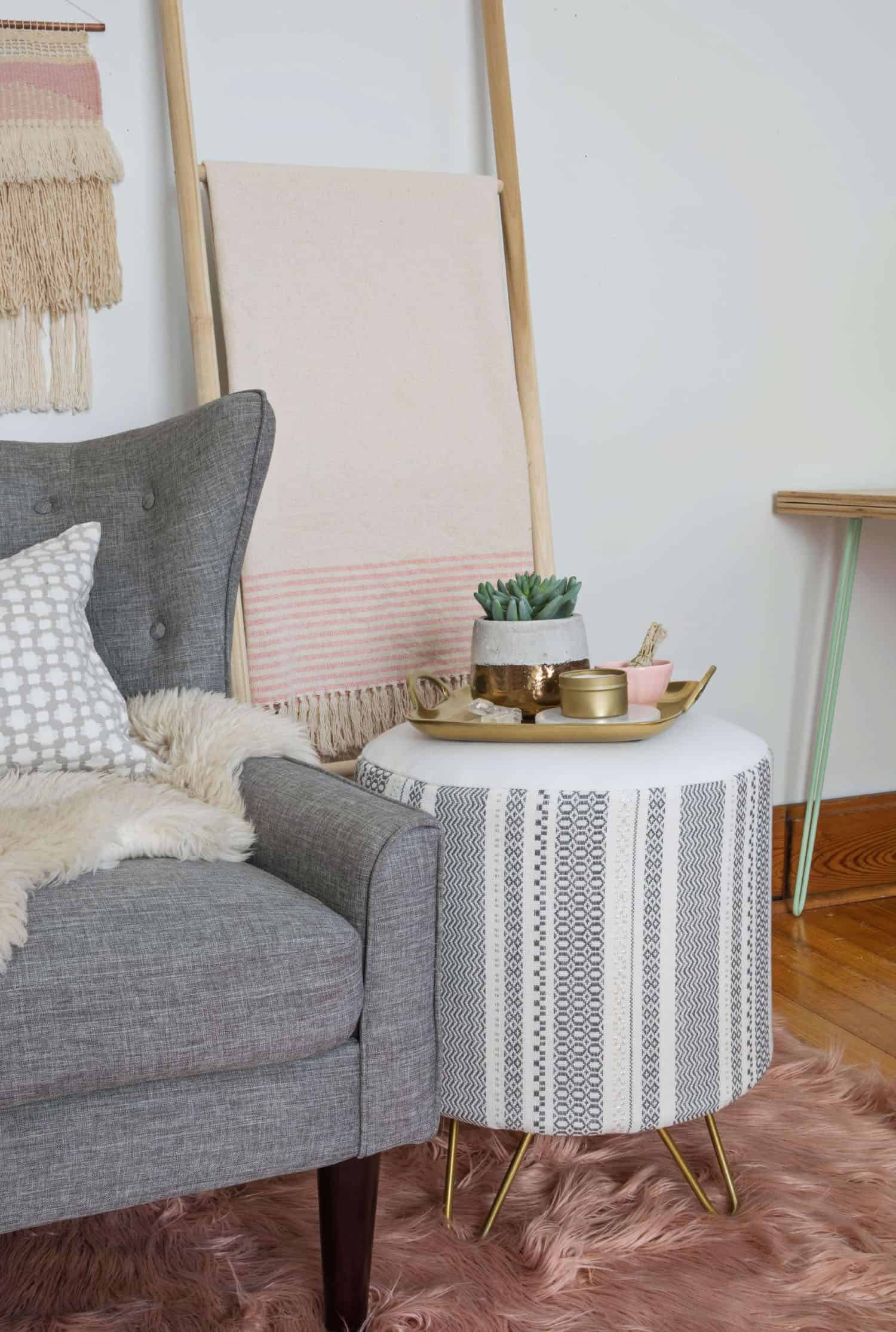 Build Your Own Upholstered Side Table A Beautiful Mess