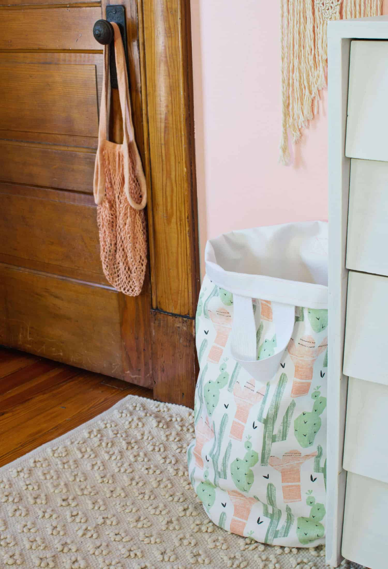 Fold the top edge of your basket over and find the perfect spot for it! I find hanging it from a doorknob works for those who enjoy a challenge when ...