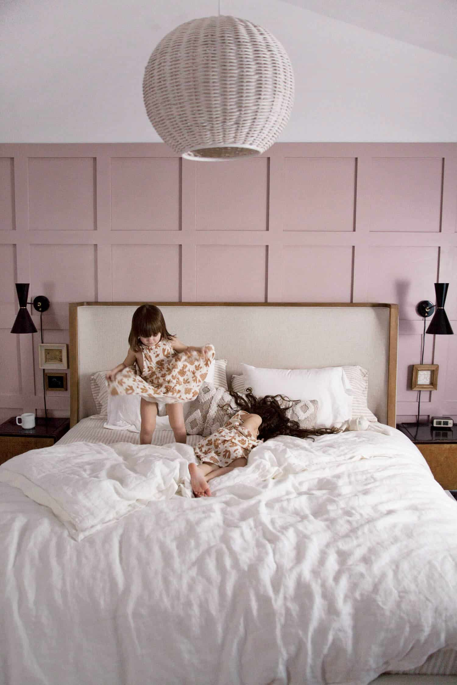 Pink Board and Batten Bedroom Makeover