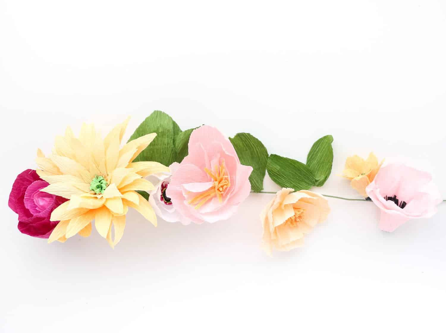 Make A Crepe Paper Flower Garland A Beautiful Mess