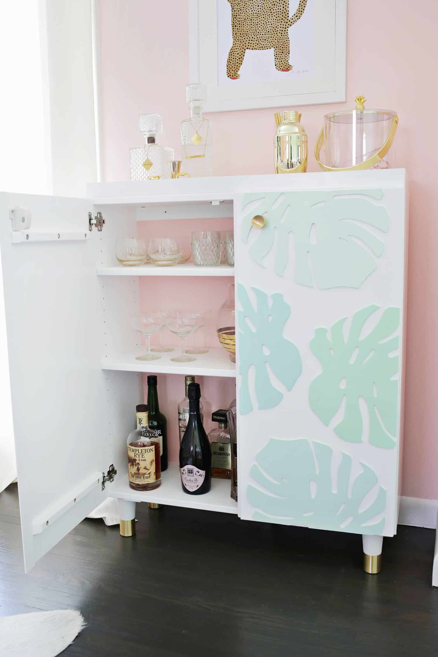 Ikea Ivar Cabinet Hack Turned Into A Bar Cabinet A