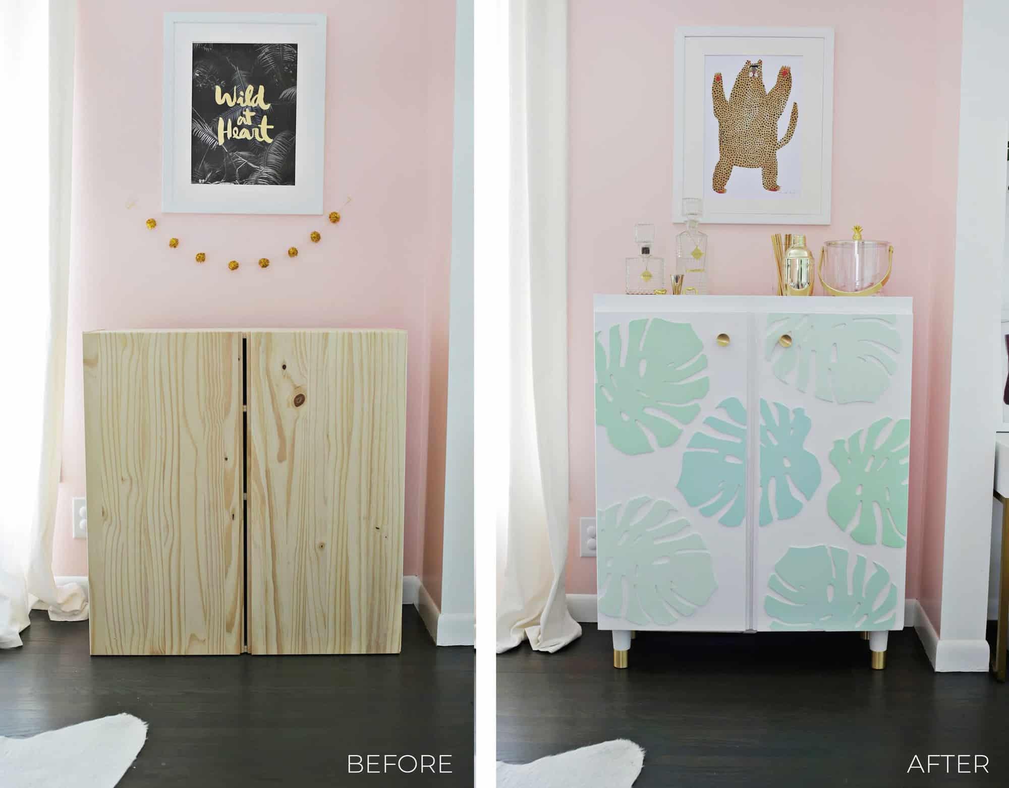 Ikea Ivar Cabinet Hack Turned Into A Bar Cabinet A