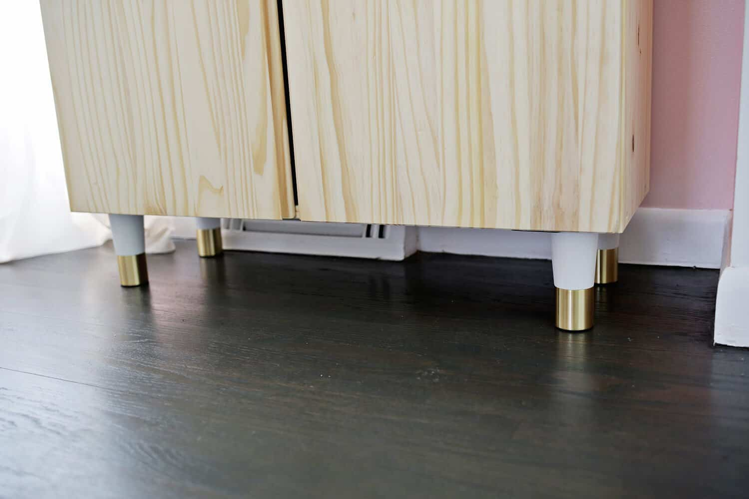Attach Your Legs To The Bottom Of Cabinet While You Can Use Any Want Those I Got Are Great Because They Come With Plates