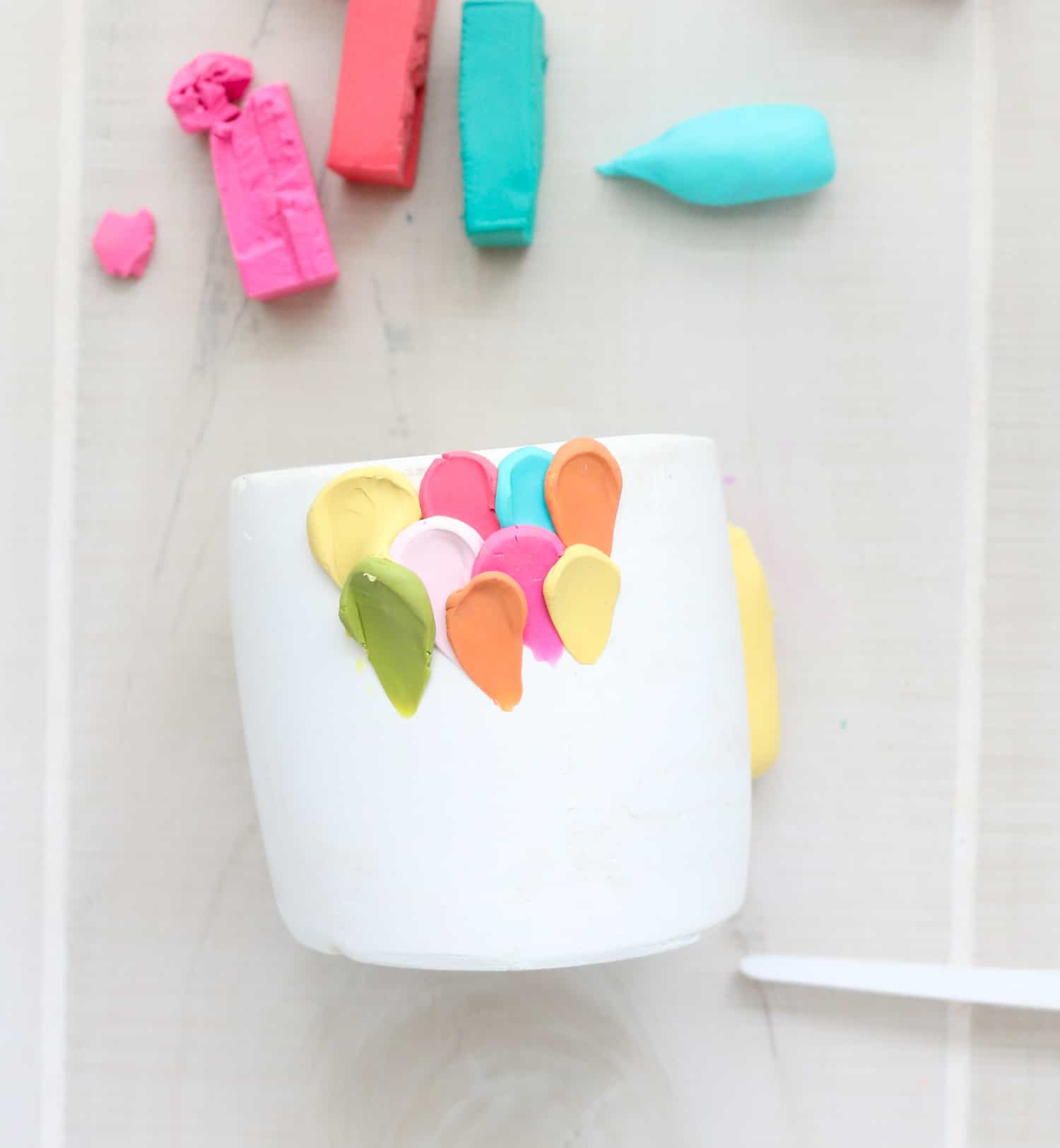 Make a Clay Petal Planter