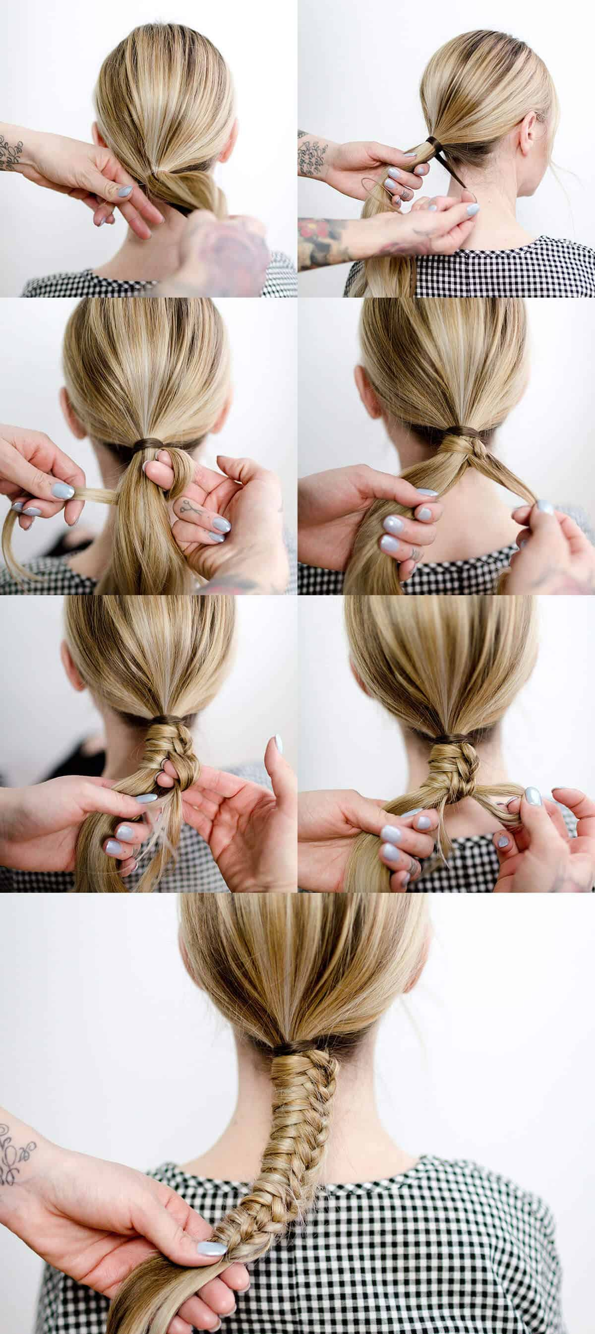 Easy Staircase Braid A Beautiful Mess