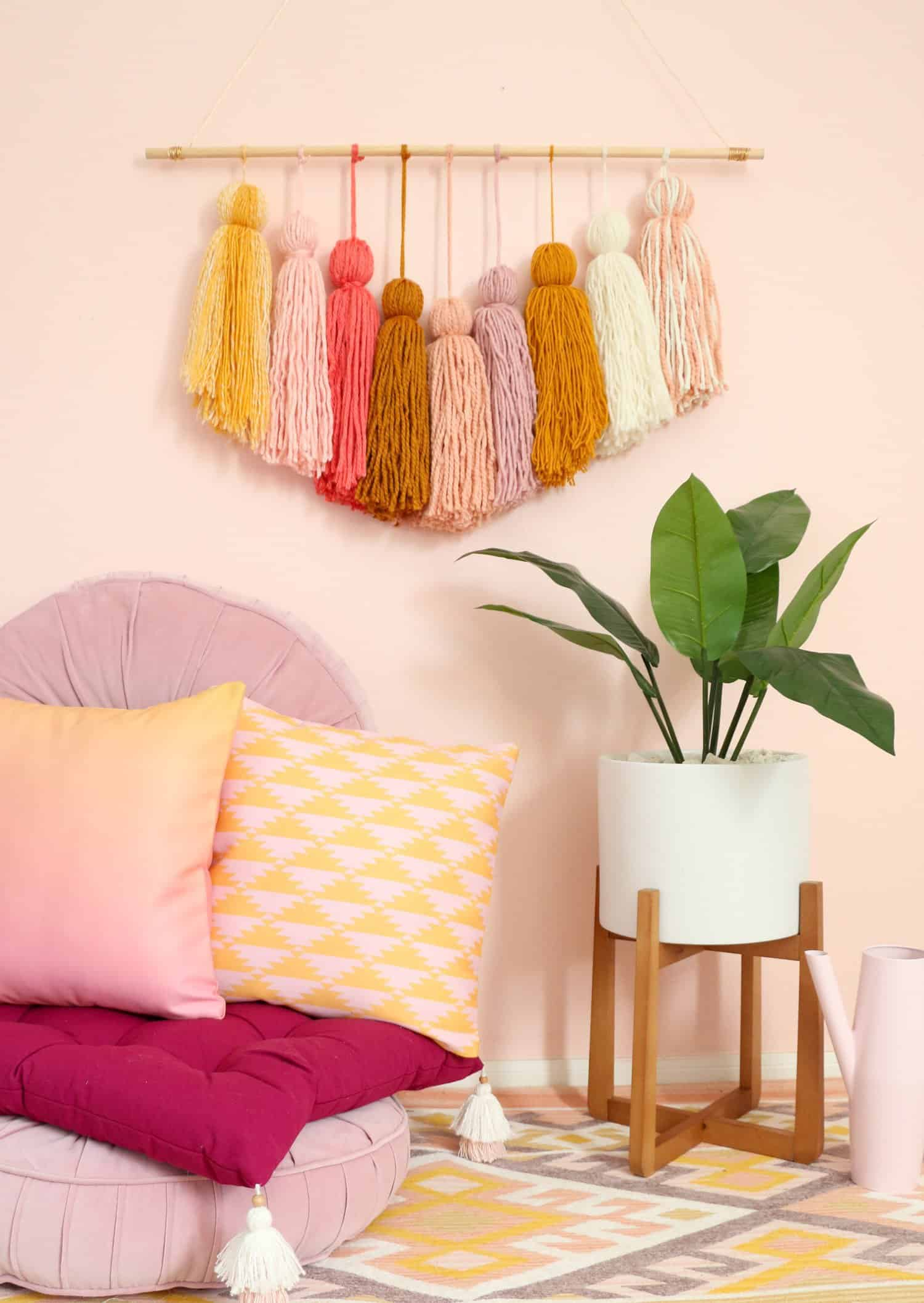 DIY Giant Tassel Wall Hanging