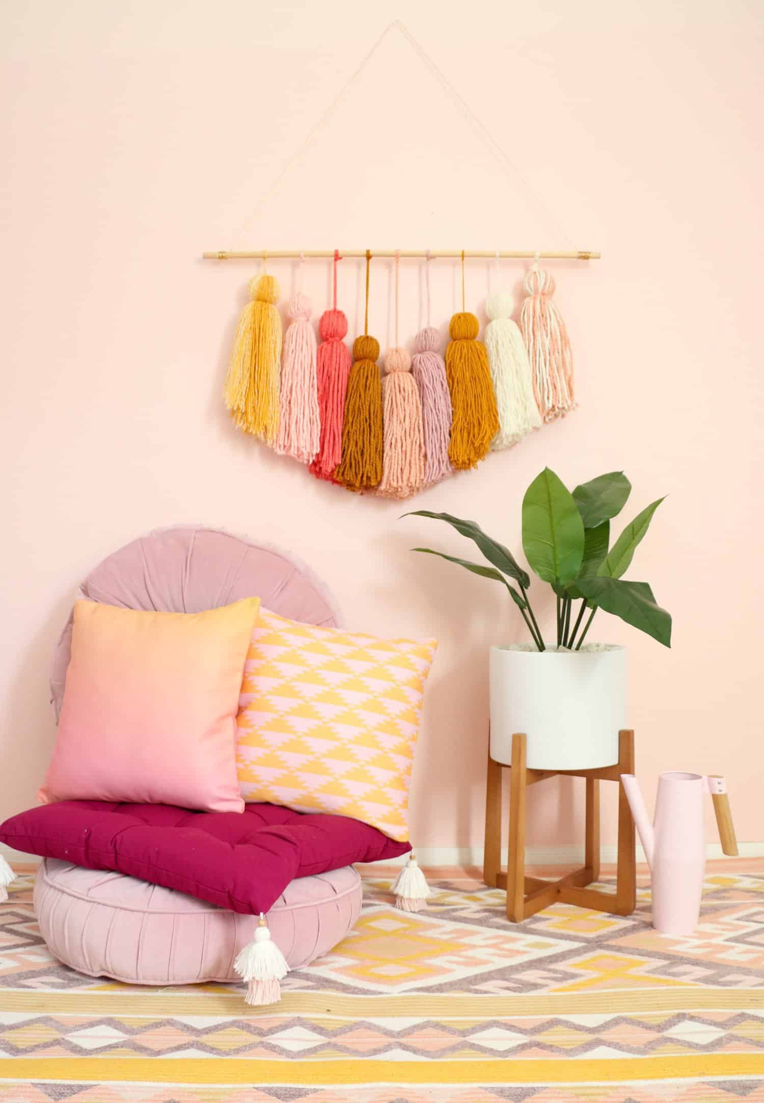 DIY Giant Tassel Wall Hanging