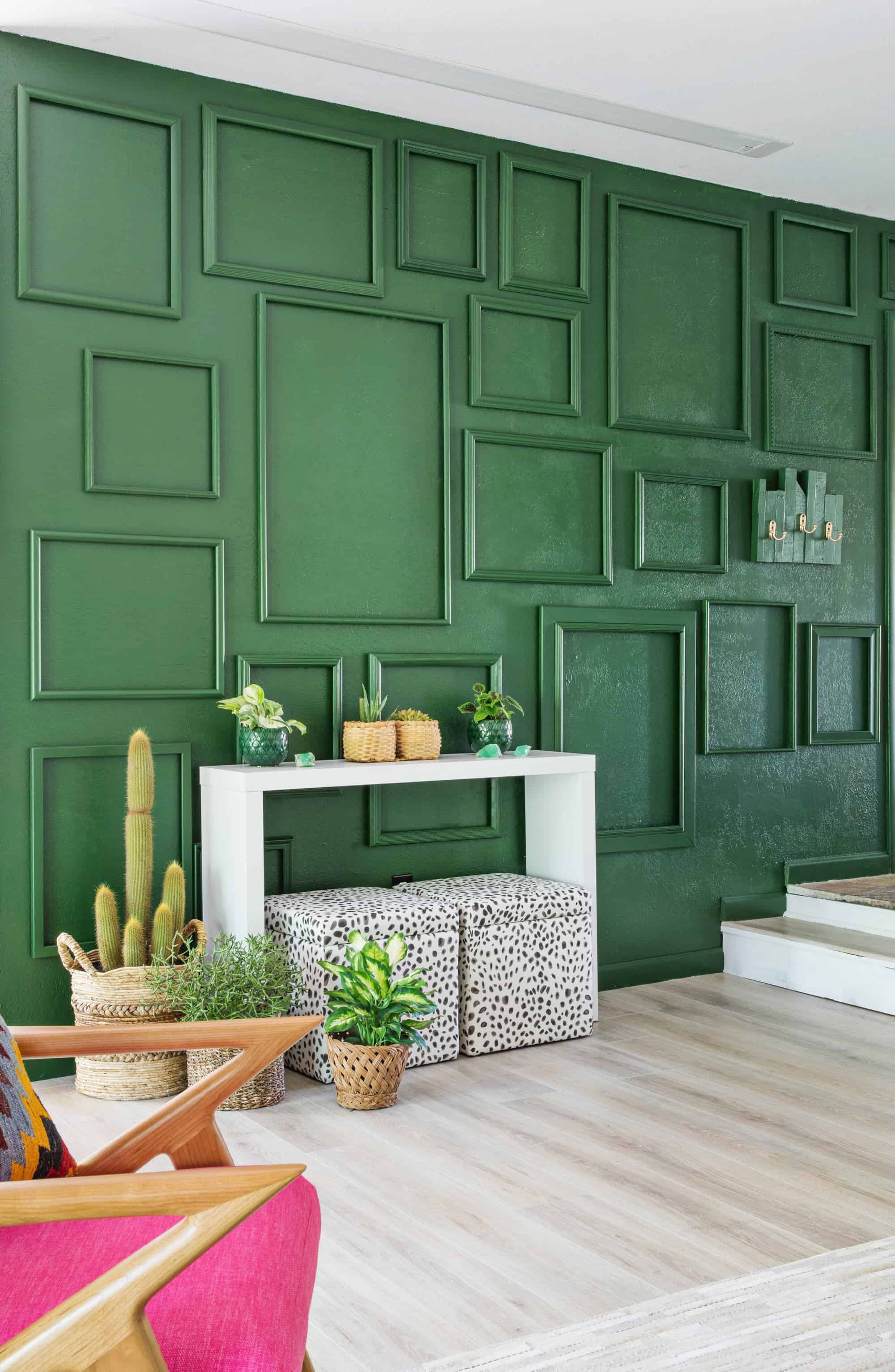 Green Living Room Designs: My (Easy) Living Room Accent Wall