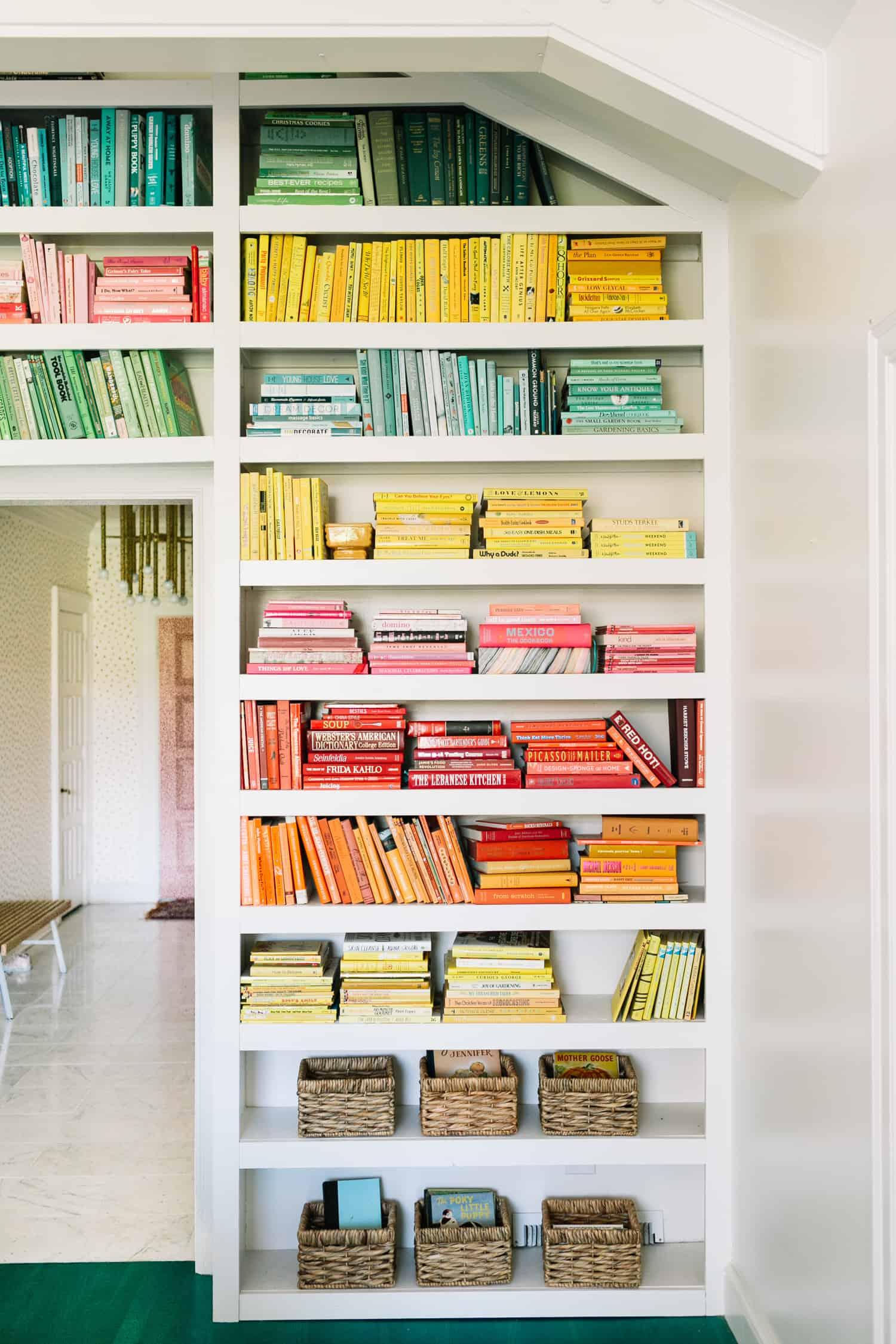 Elsie S Rainbow Bookshelves A Beautiful Mess