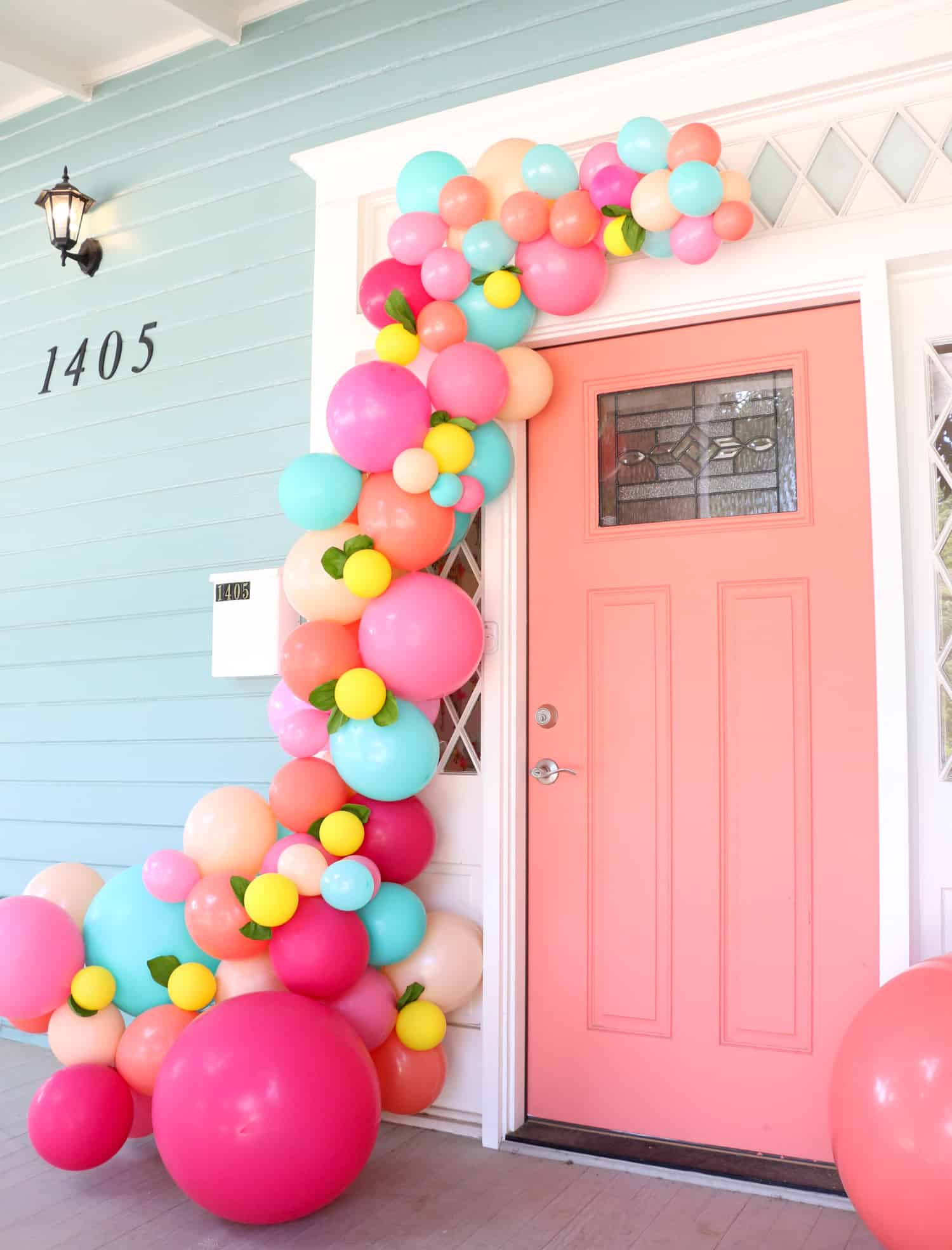 Make A Balloon Garland For Your Front Door A Beautiful Mess
